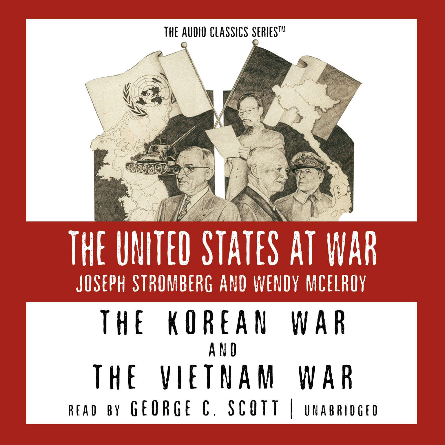 Printable The Korean War and The Vietnam War Audiobook Cover Art