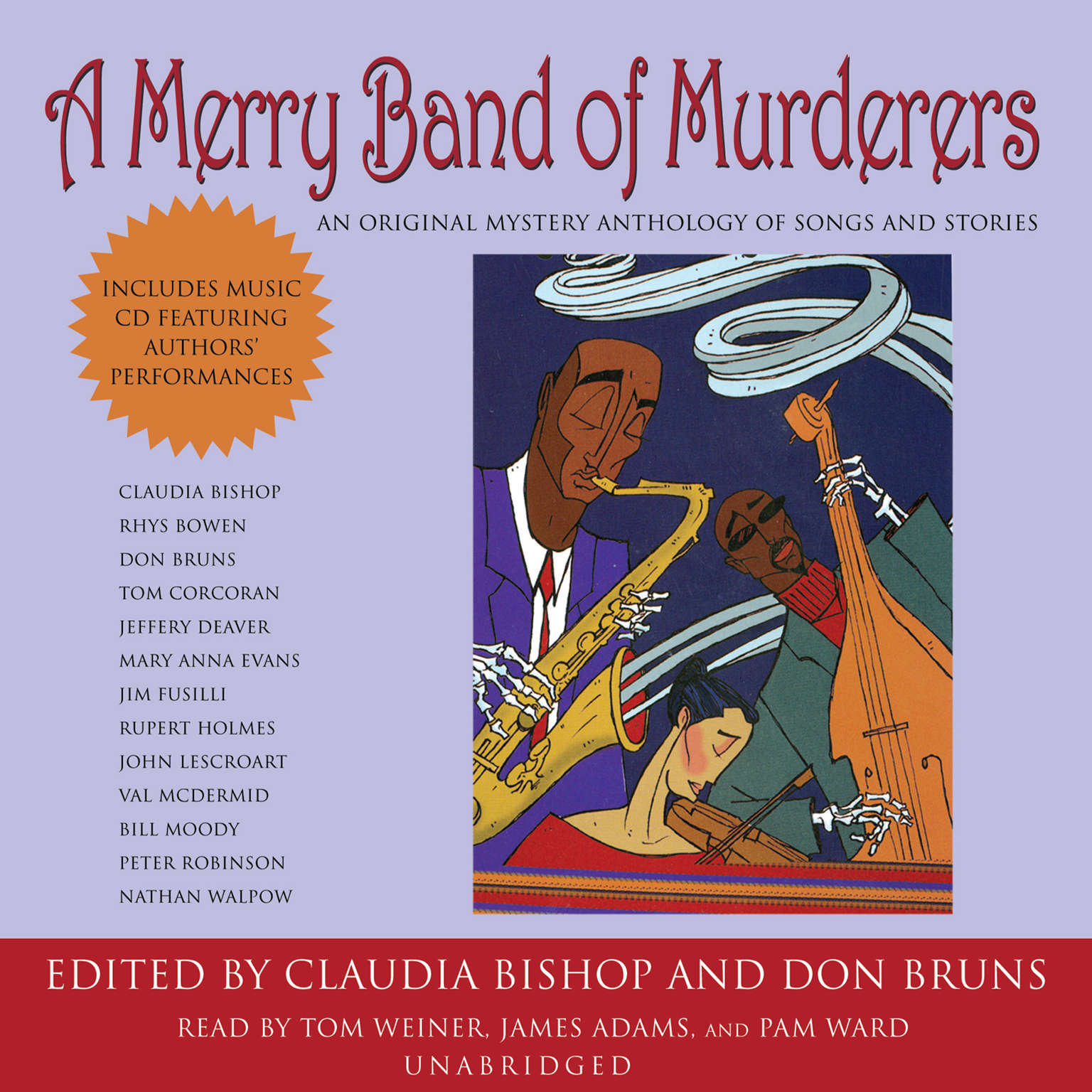 Printable A Merry Band of Murderers: An Original Mystery Anthology of Songs and Stories Audiobook Cover Art