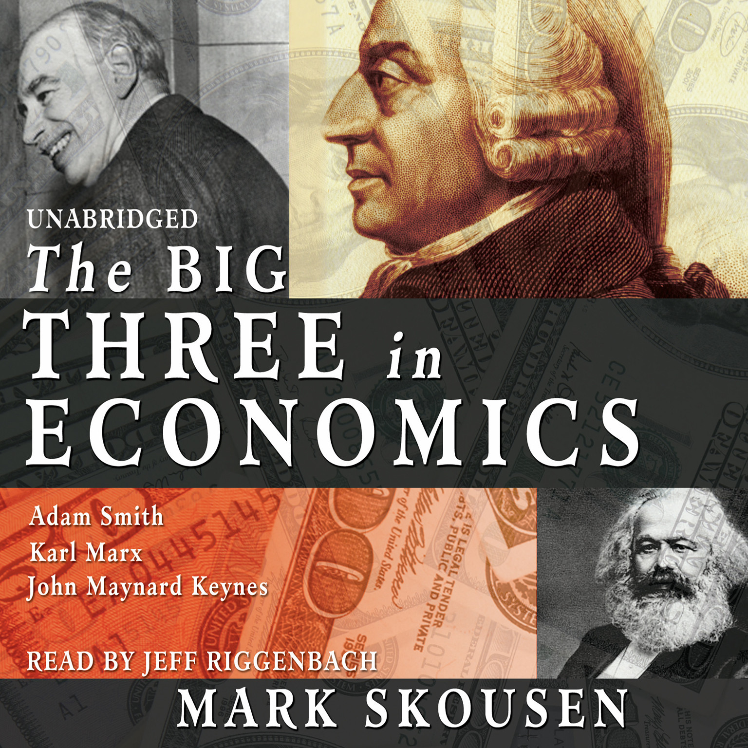 Printable The Big Three in Economics: Adam Smith, Karl Marx, and John Maynard Keynes Audiobook Cover Art