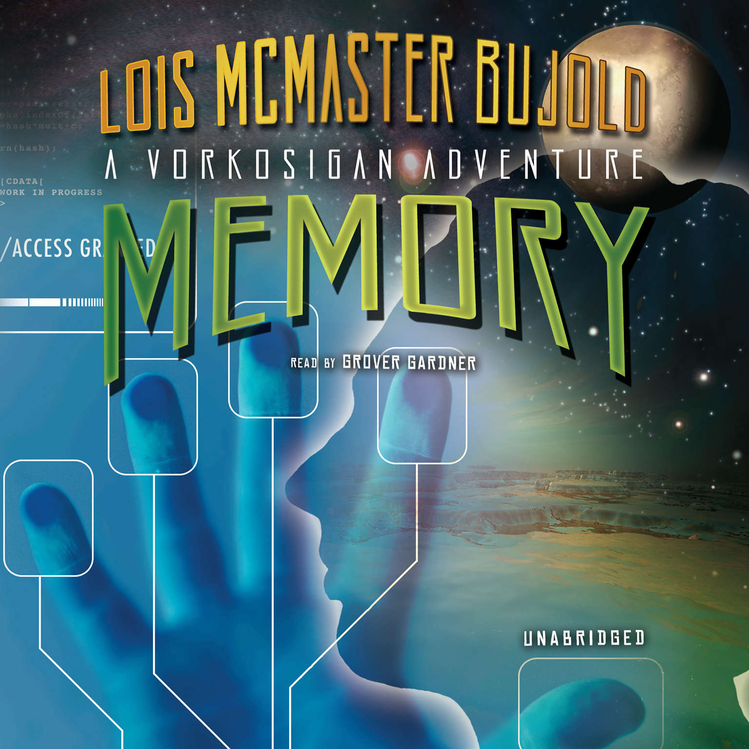 Printable Memory: A Miles Vorkosigan Adventure Audiobook Cover Art