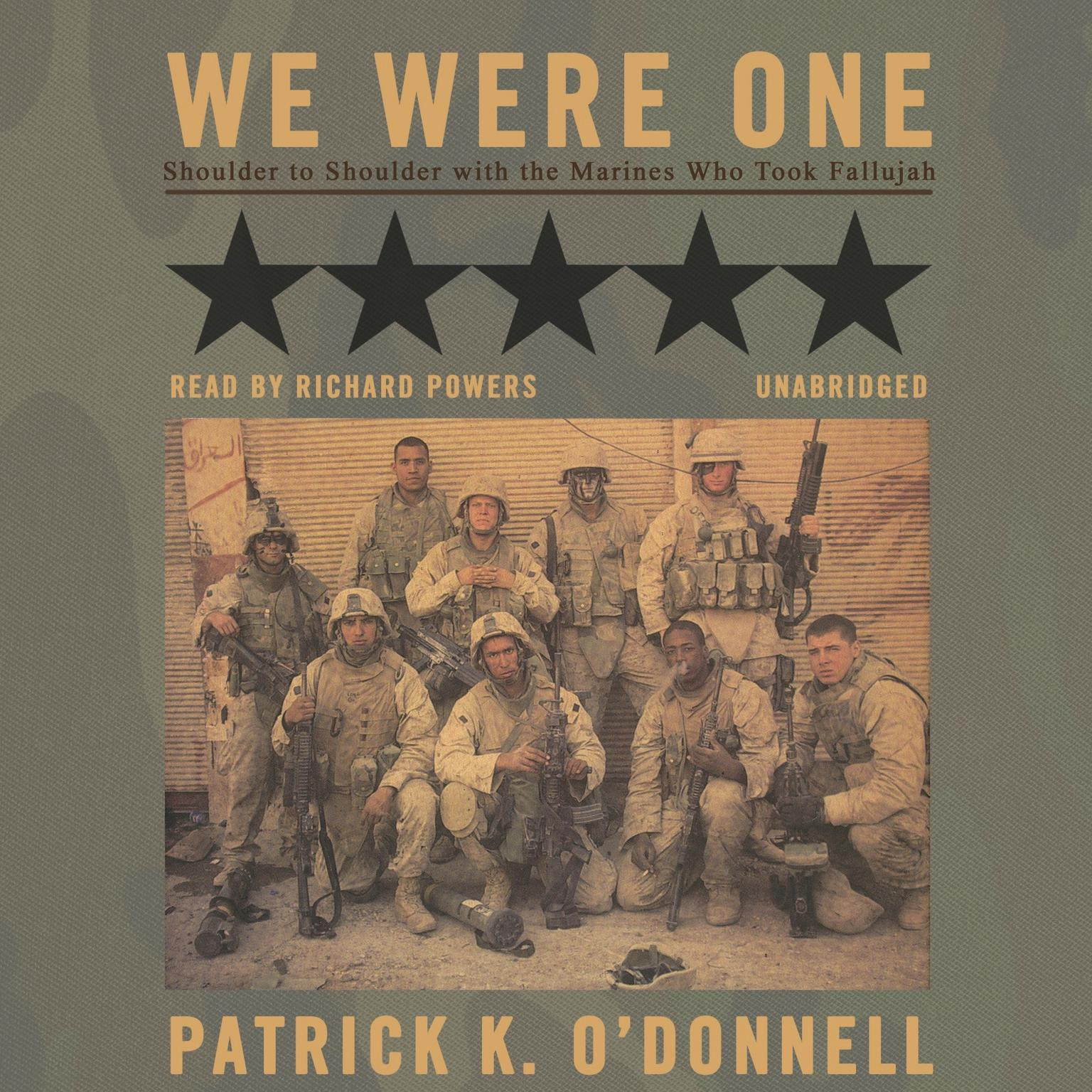 Printable We Were One: Shoulder to Shoulder with the Marines Who Took Fallujah Audiobook Cover Art