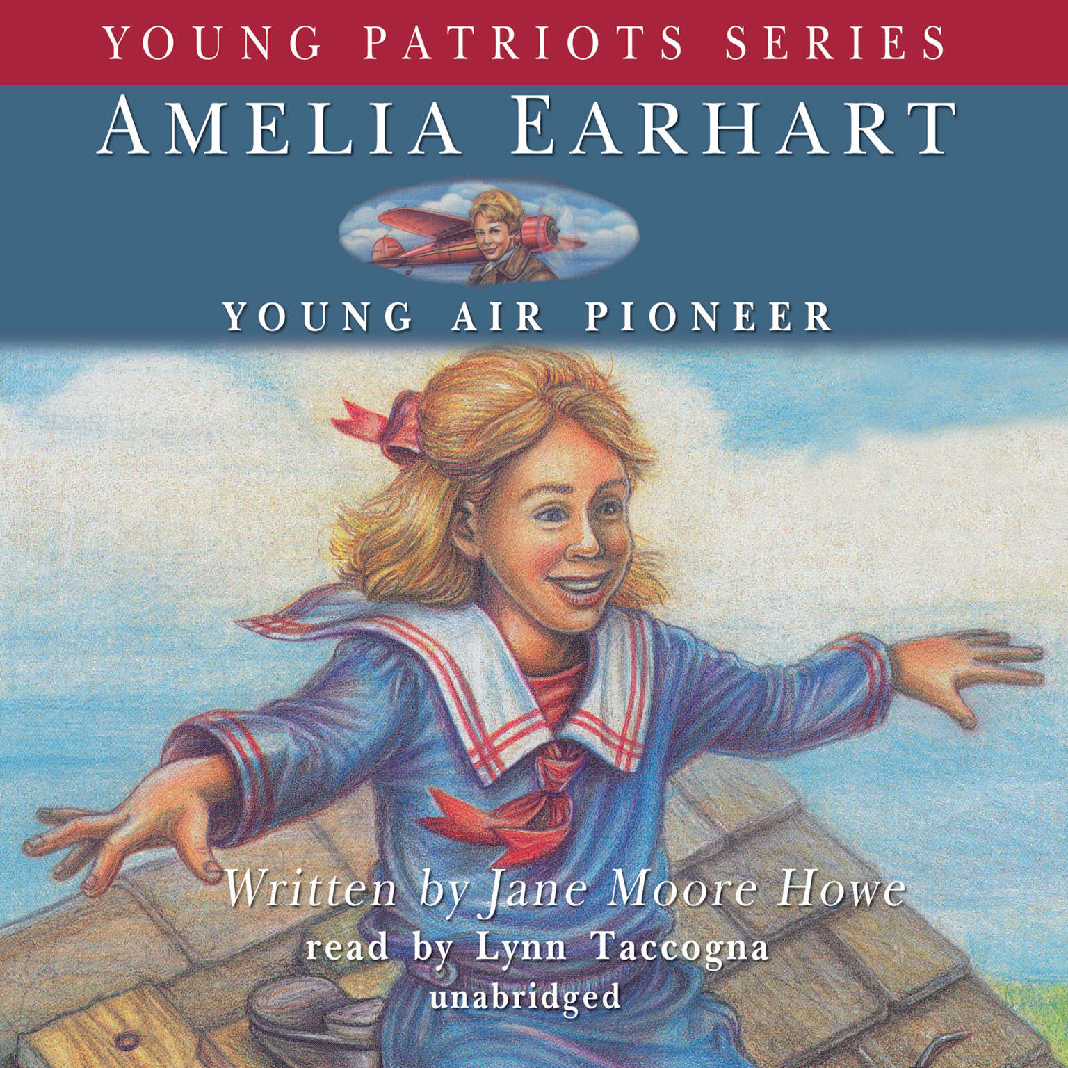 Printable Amelia Earhart: Young Air Pioneer Audiobook Cover Art
