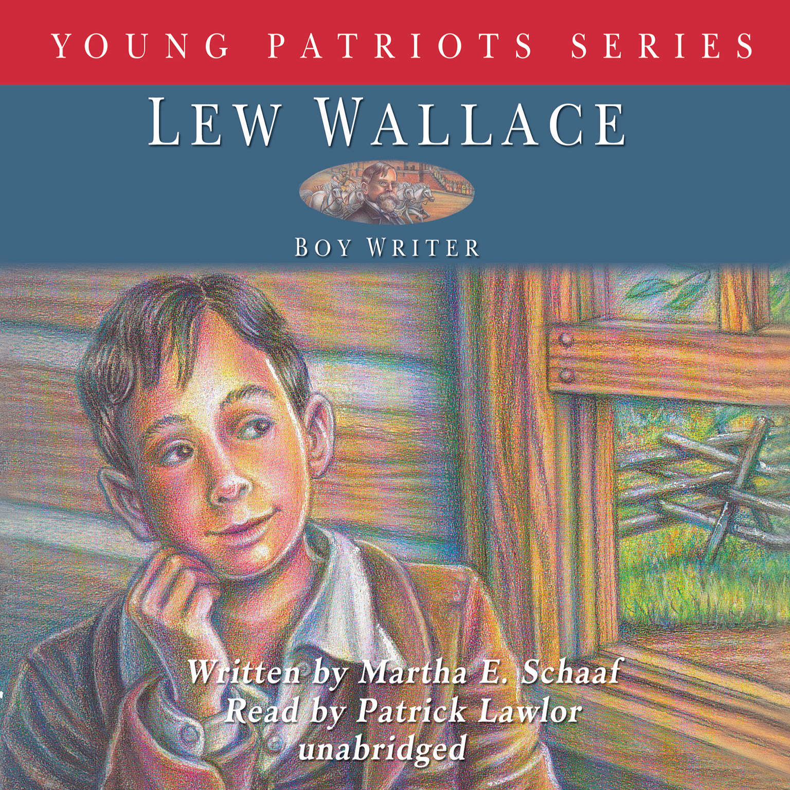 Printable Lew Wallace: Boy Writer Audiobook Cover Art
