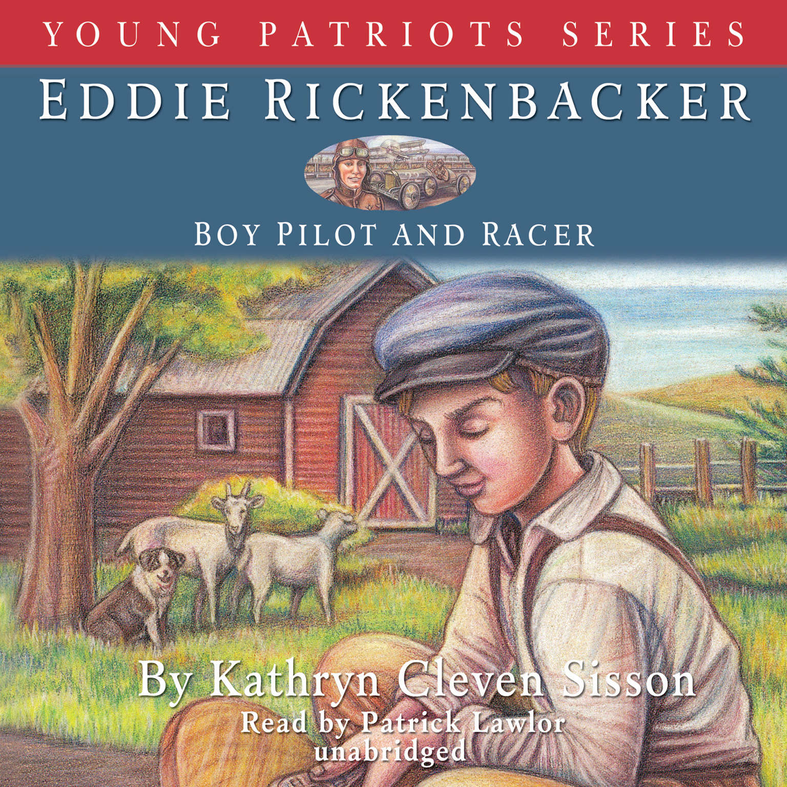 Printable Eddie Rickenbacker: Boy Pilot and Racer Audiobook Cover Art