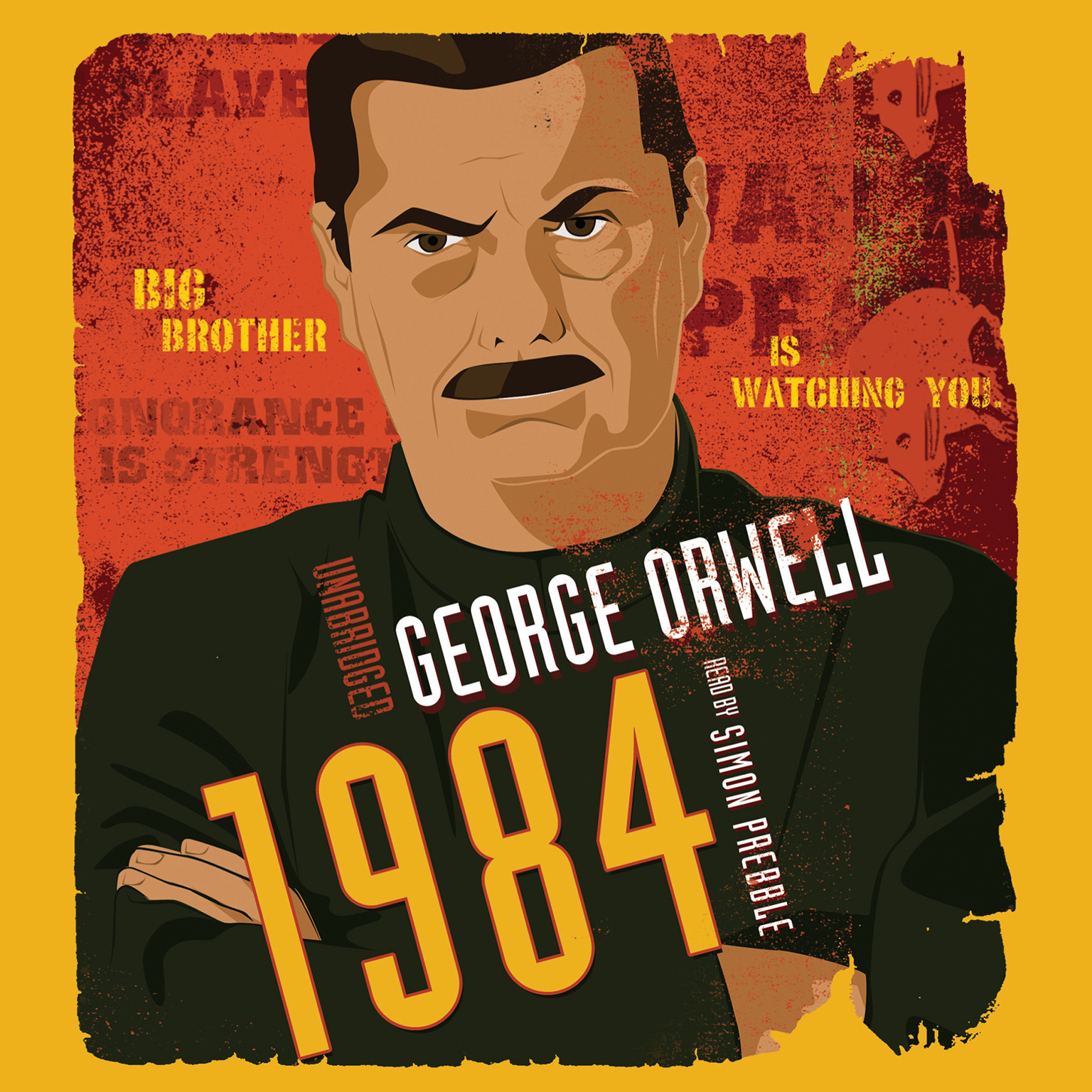 Printable 1984 Audiobook Cover Art