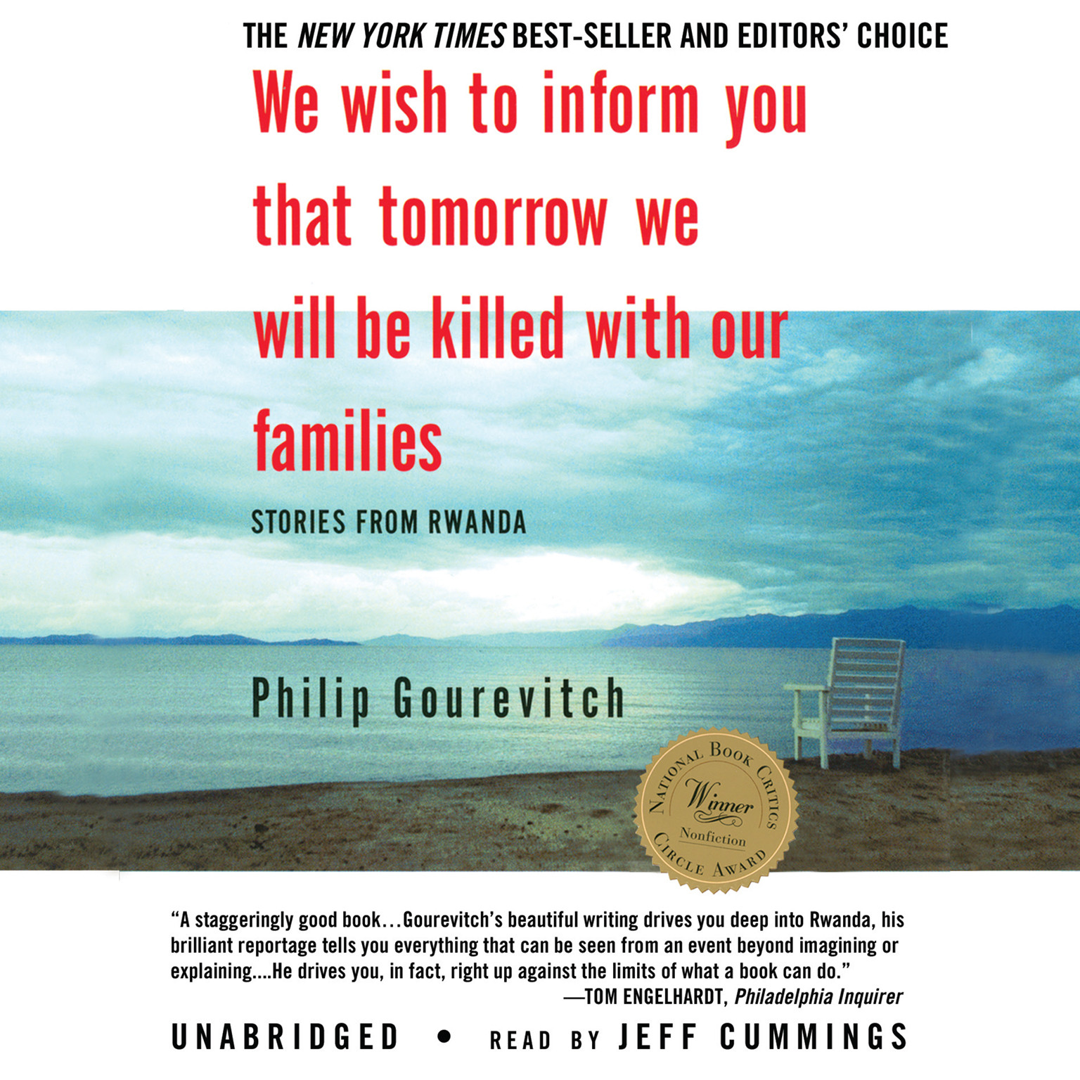 Printable We Wish to Inform You That Tomorrow We Will Be Killed with Our Families: Stories from Rwanda Audiobook Cover Art