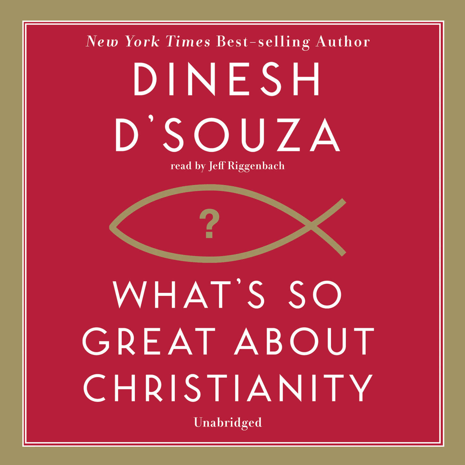 Printable What's So Great about Christianity Audiobook Cover Art