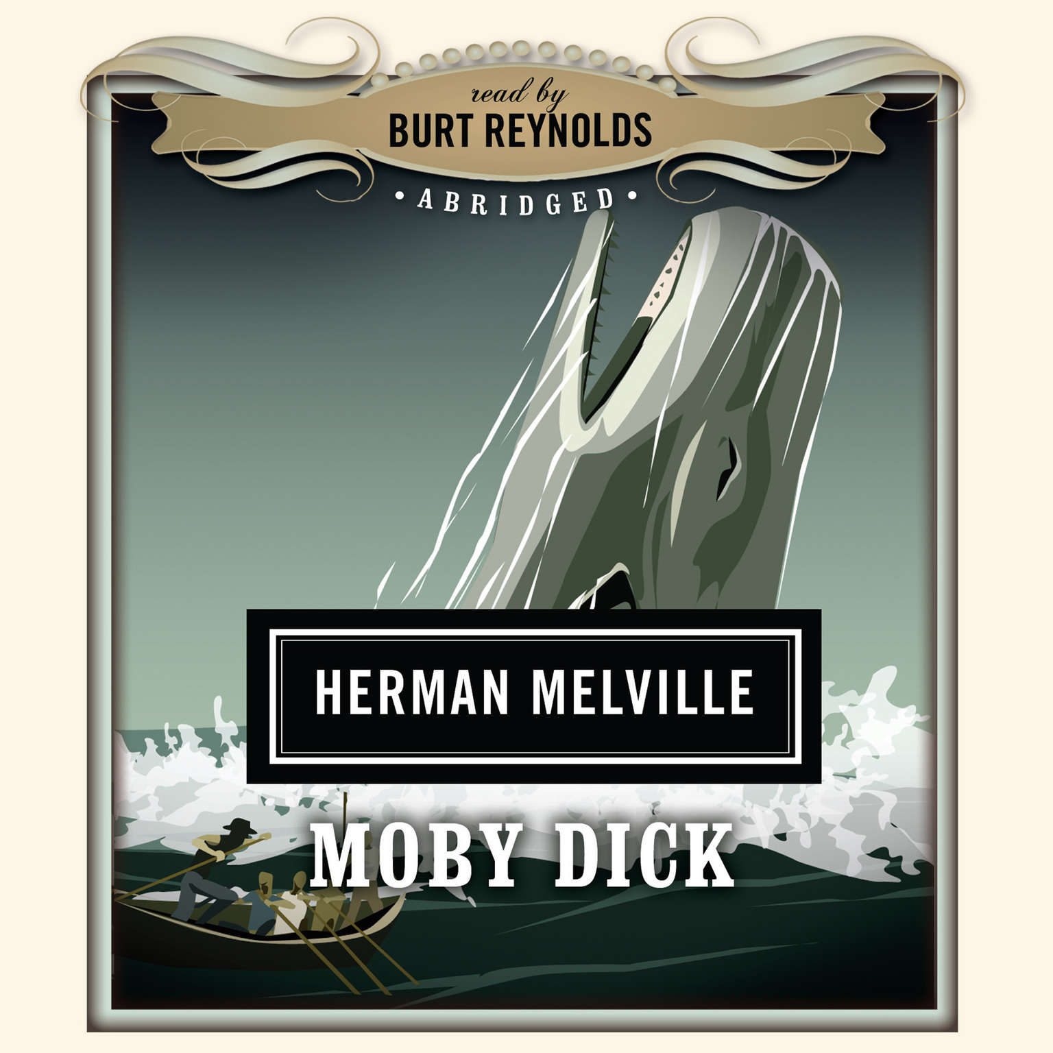Printable Moby-Dick (Abridged) Audiobook Cover Art