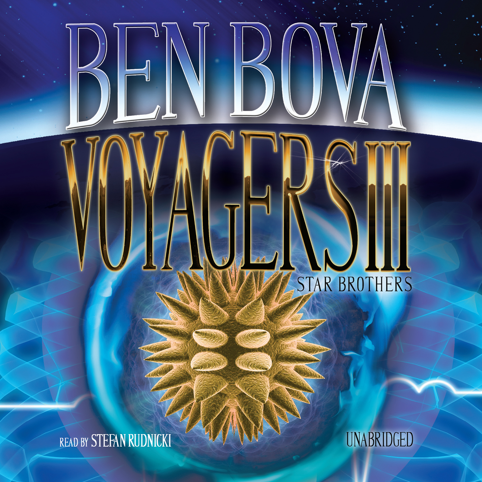 Printable Voyagers III: Star Brothers Audiobook Cover Art