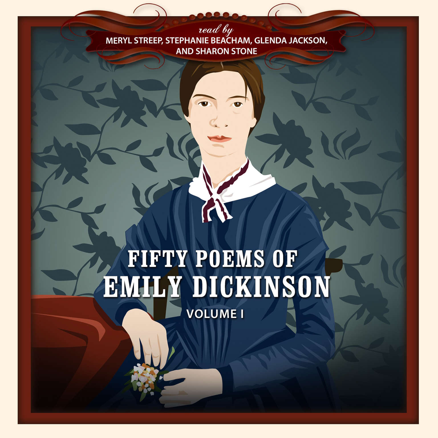 Printable Fifty Poems of Emily Dickinson Audiobook Cover Art