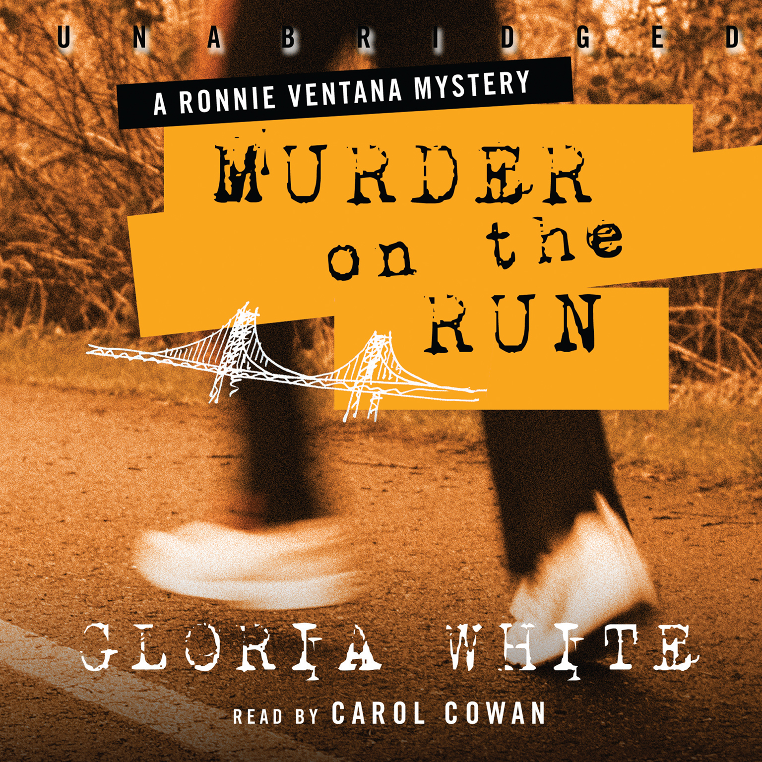 Printable Murder on the Run Audiobook Cover Art