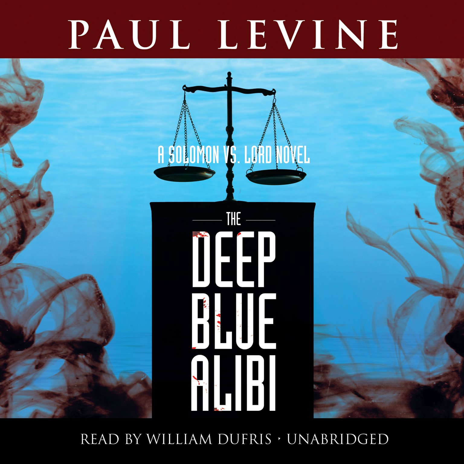 Printable The Deep Blue Alibi: A Solomon vs. Lord Novel Audiobook Cover Art