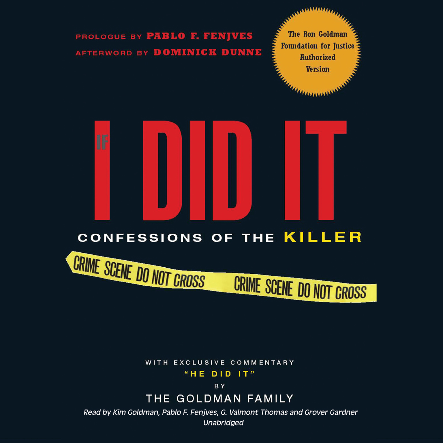 Printable If I Did It: Confessions of the Killer Audiobook Cover Art