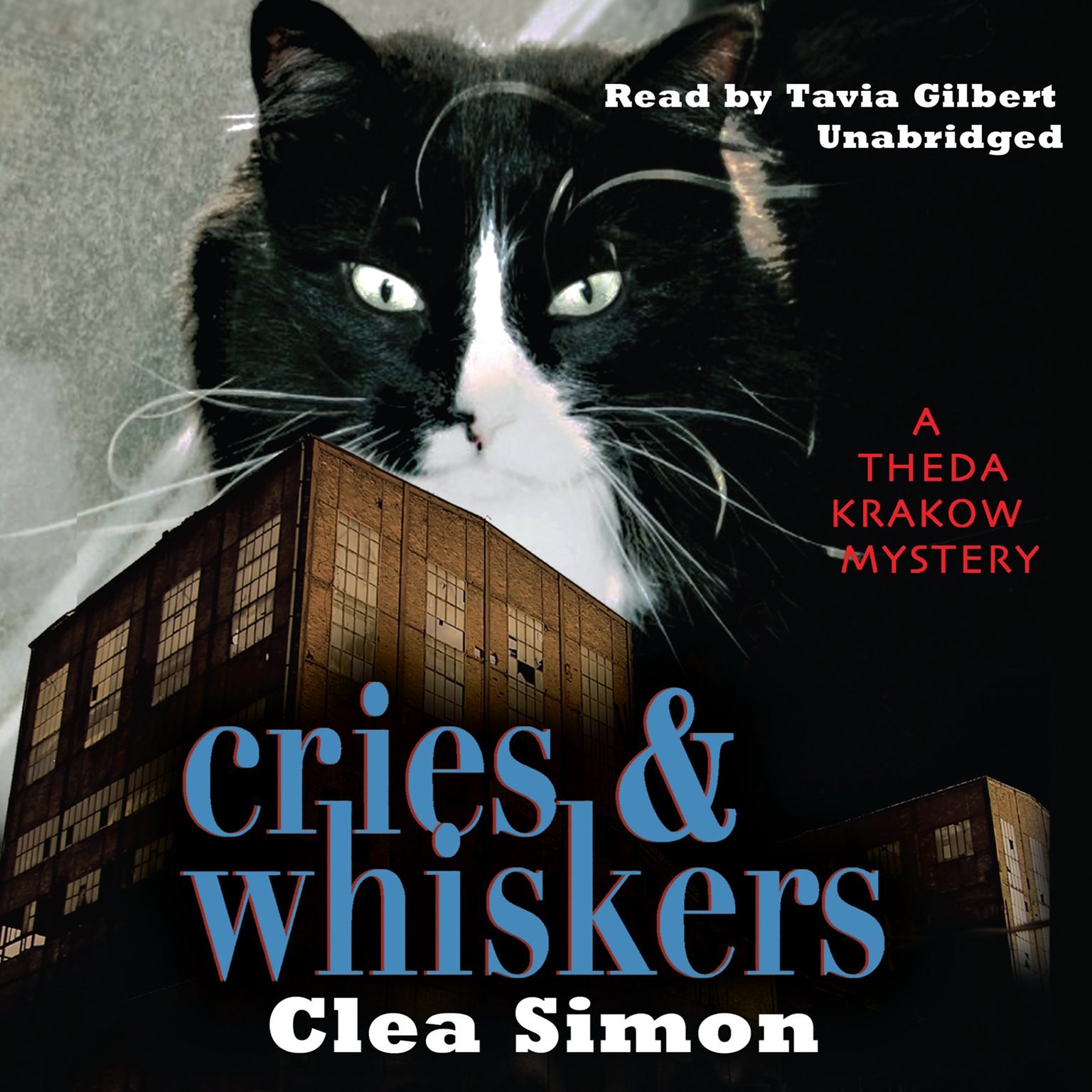 Printable Cries and Whiskers: A Theda Krakow Mystery Audiobook Cover Art