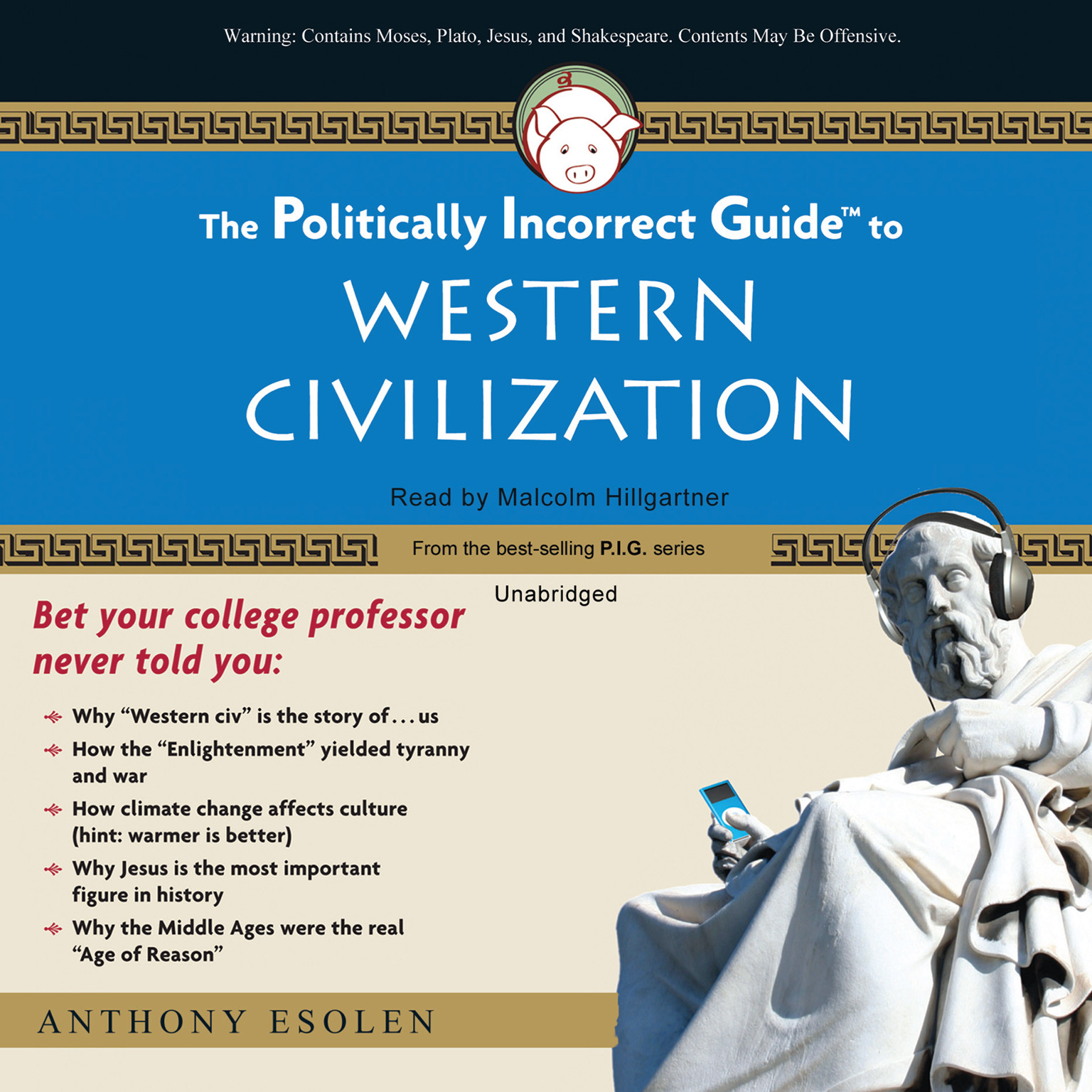 Printable The Politically Incorrect Guide to Western Civilization Audiobook Cover Art