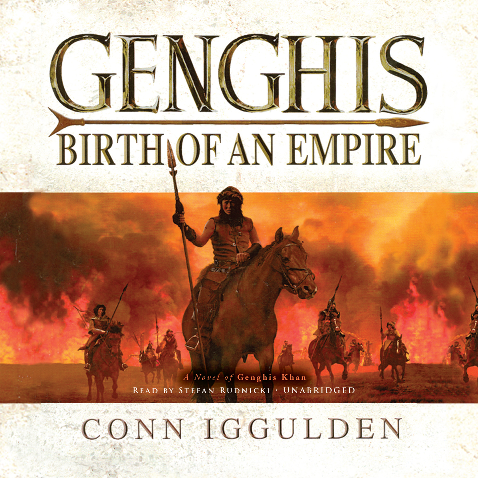 Printable Genghis: Birth of an Empire, A Novel of Genghis Khan Audiobook Cover Art