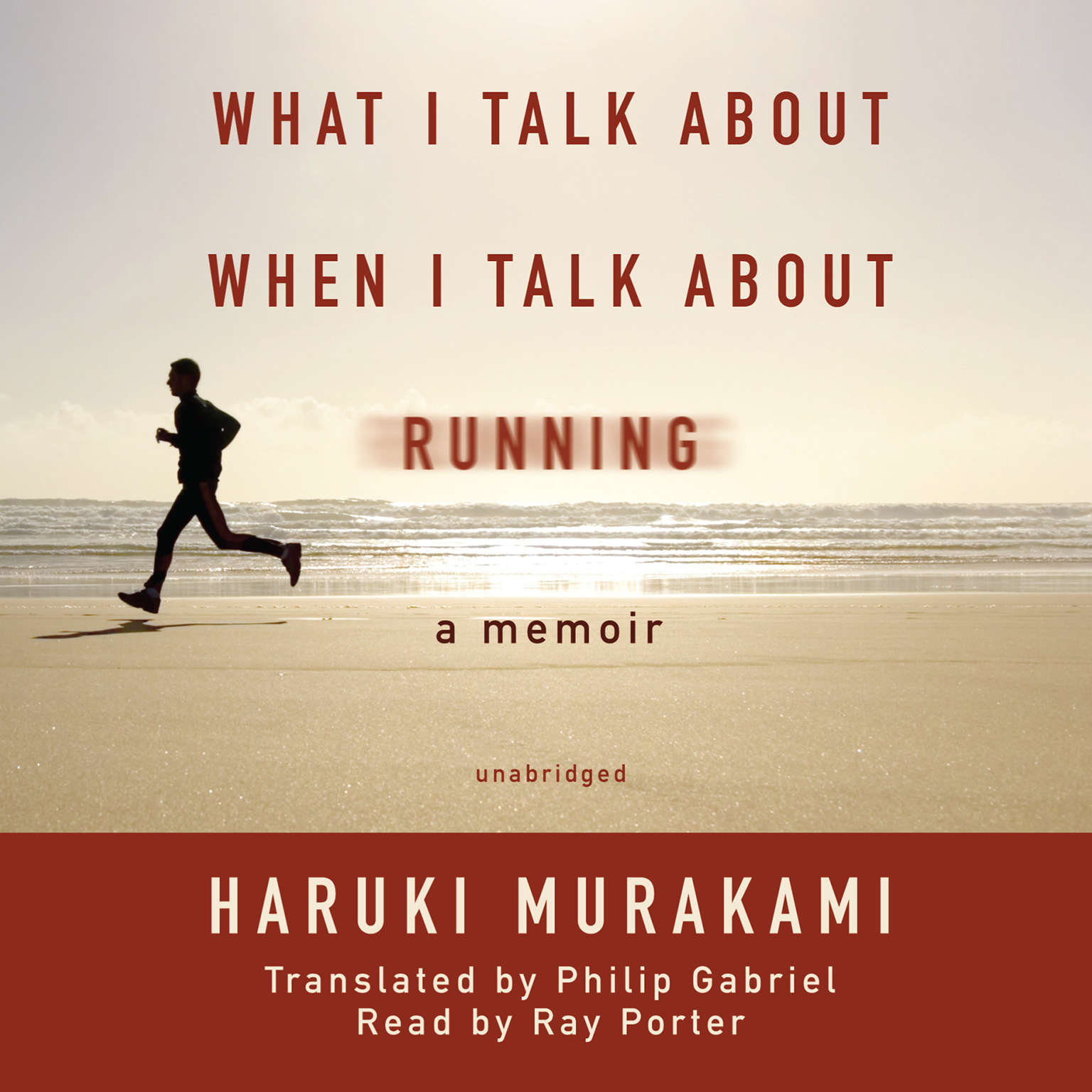 Printable What I Talk about When I Talk about Running: A Memoir Audiobook Cover Art