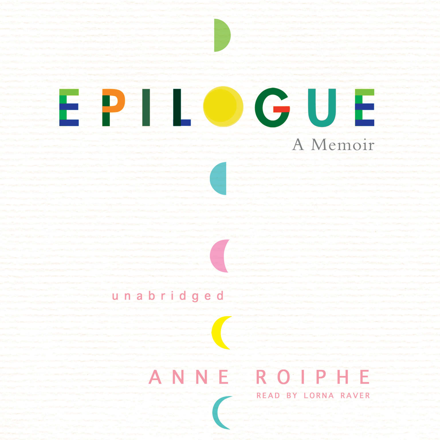 Printable Epilogue: A Memoir Audiobook Cover Art