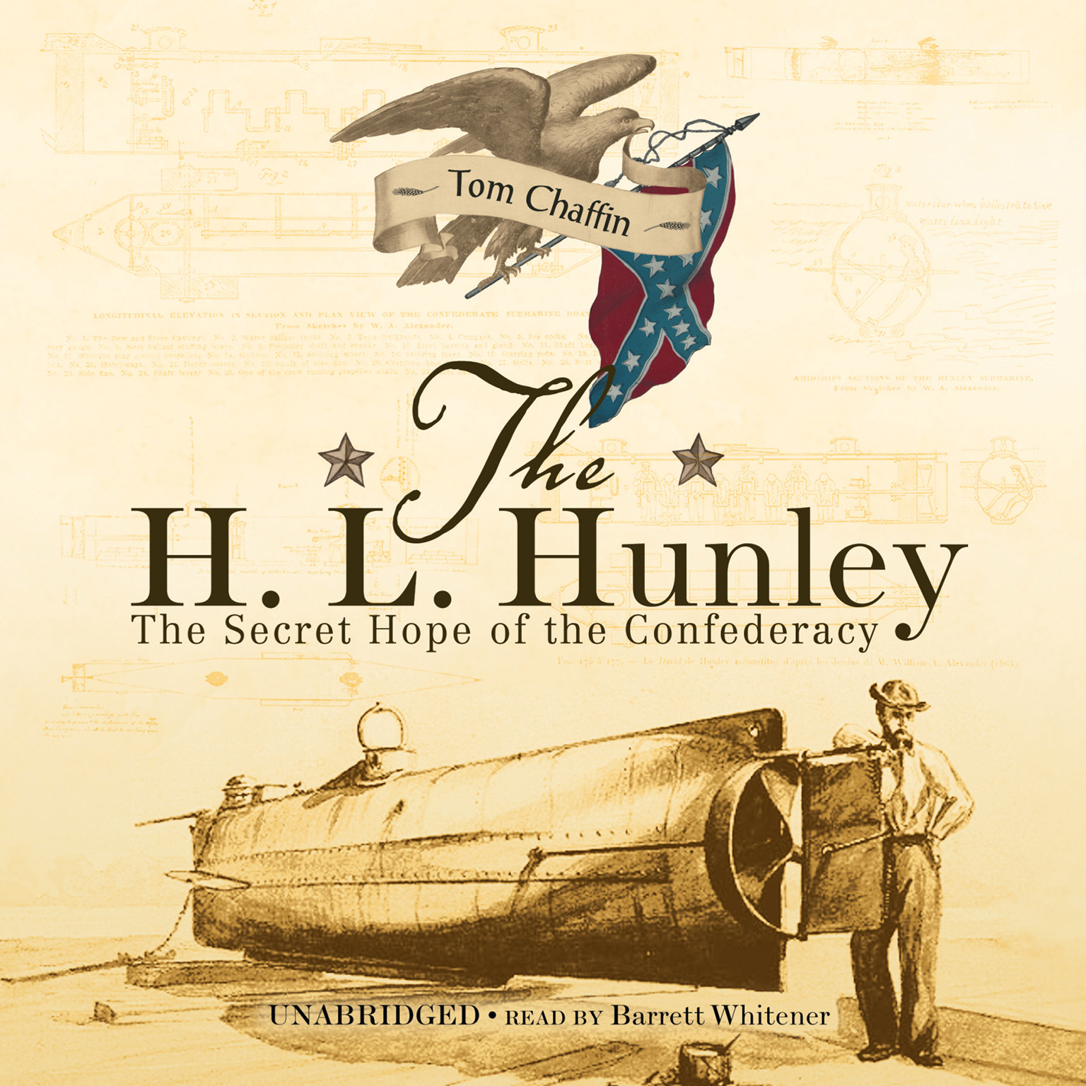 Printable The H. L. Hunley: The Secret Hope of the Confederacy Audiobook Cover Art