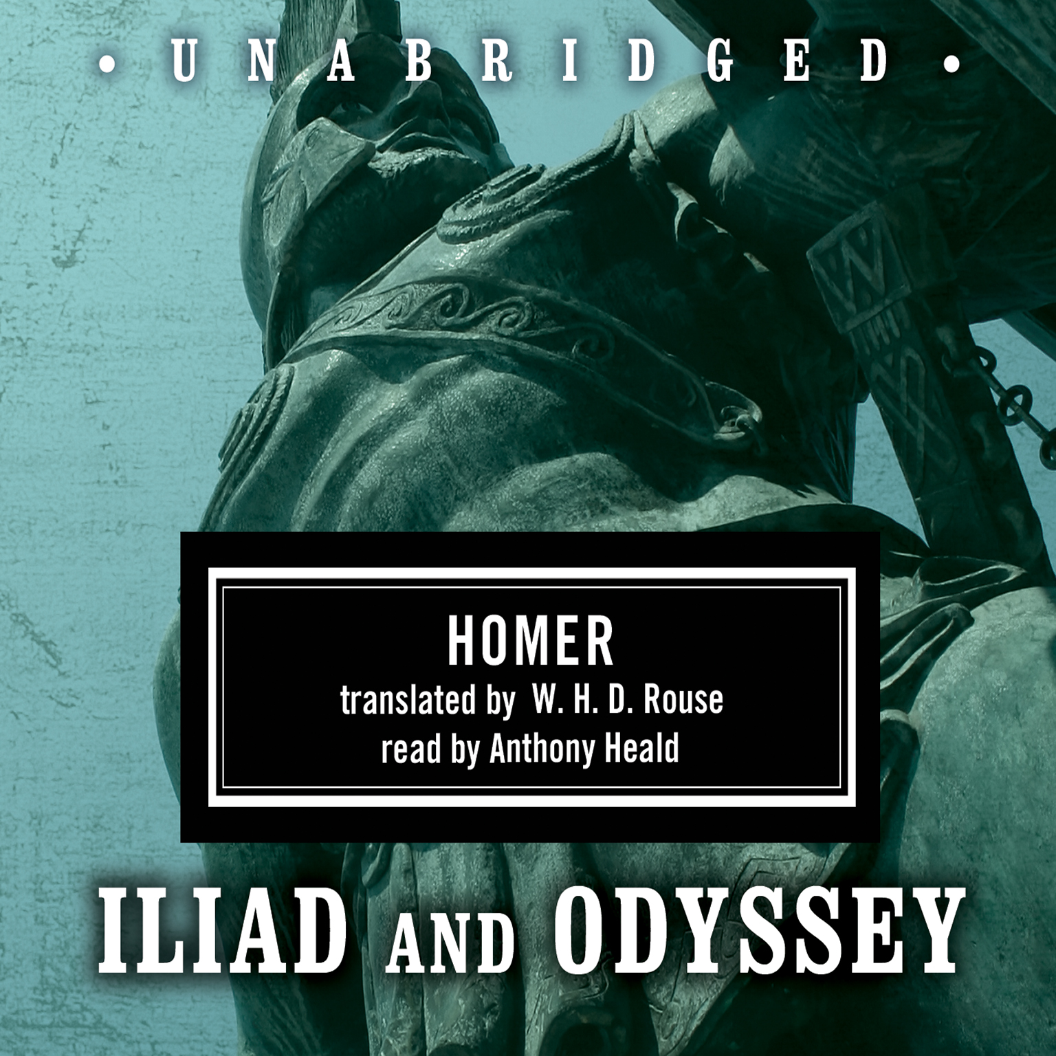 Printable Homer Box Set: Iliad & Odyssey Audiobook Cover Art