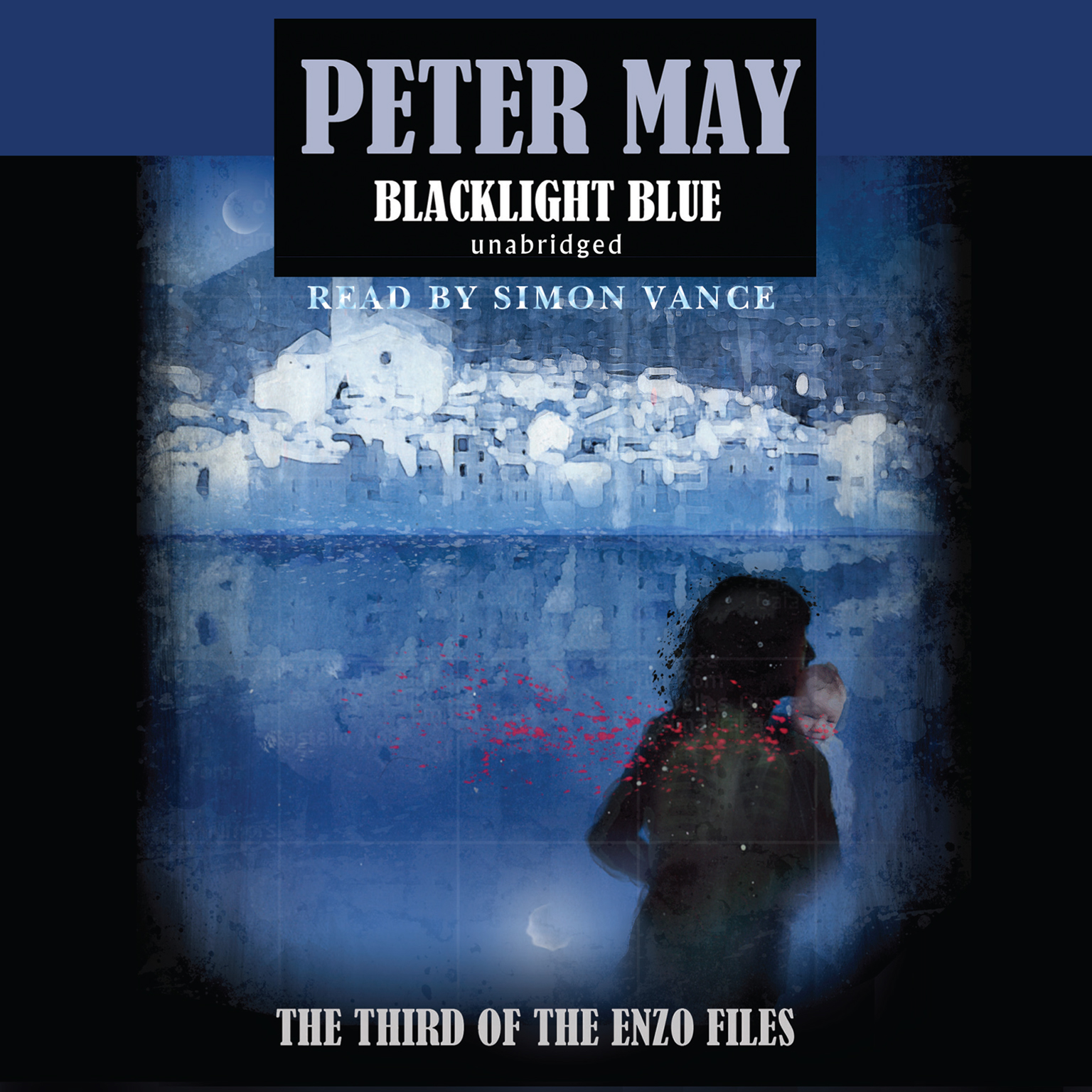 Printable Blacklight Blue Audiobook Cover Art