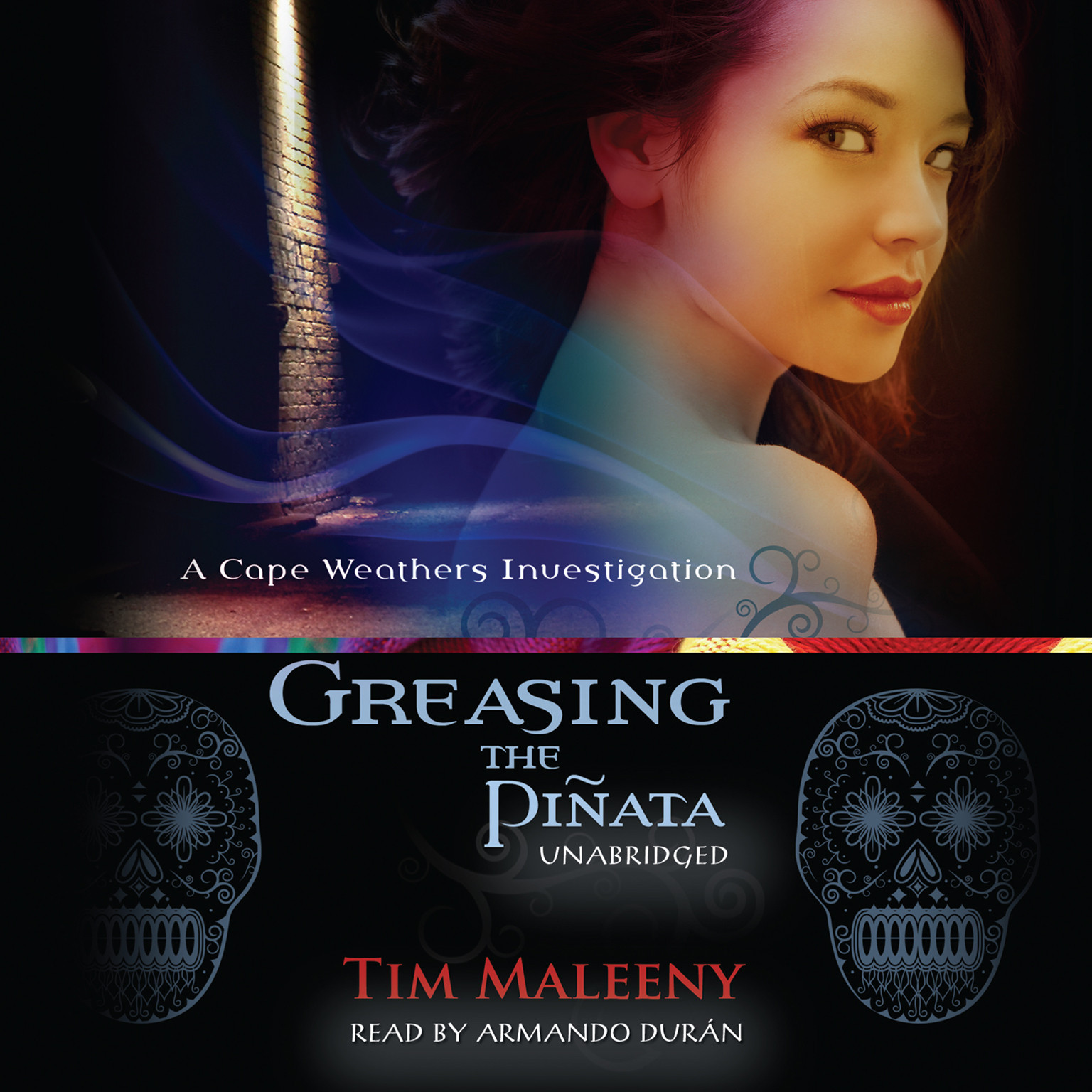 Printable Greasing the Piñata: A Cape Weathers Investigation Audiobook Cover Art