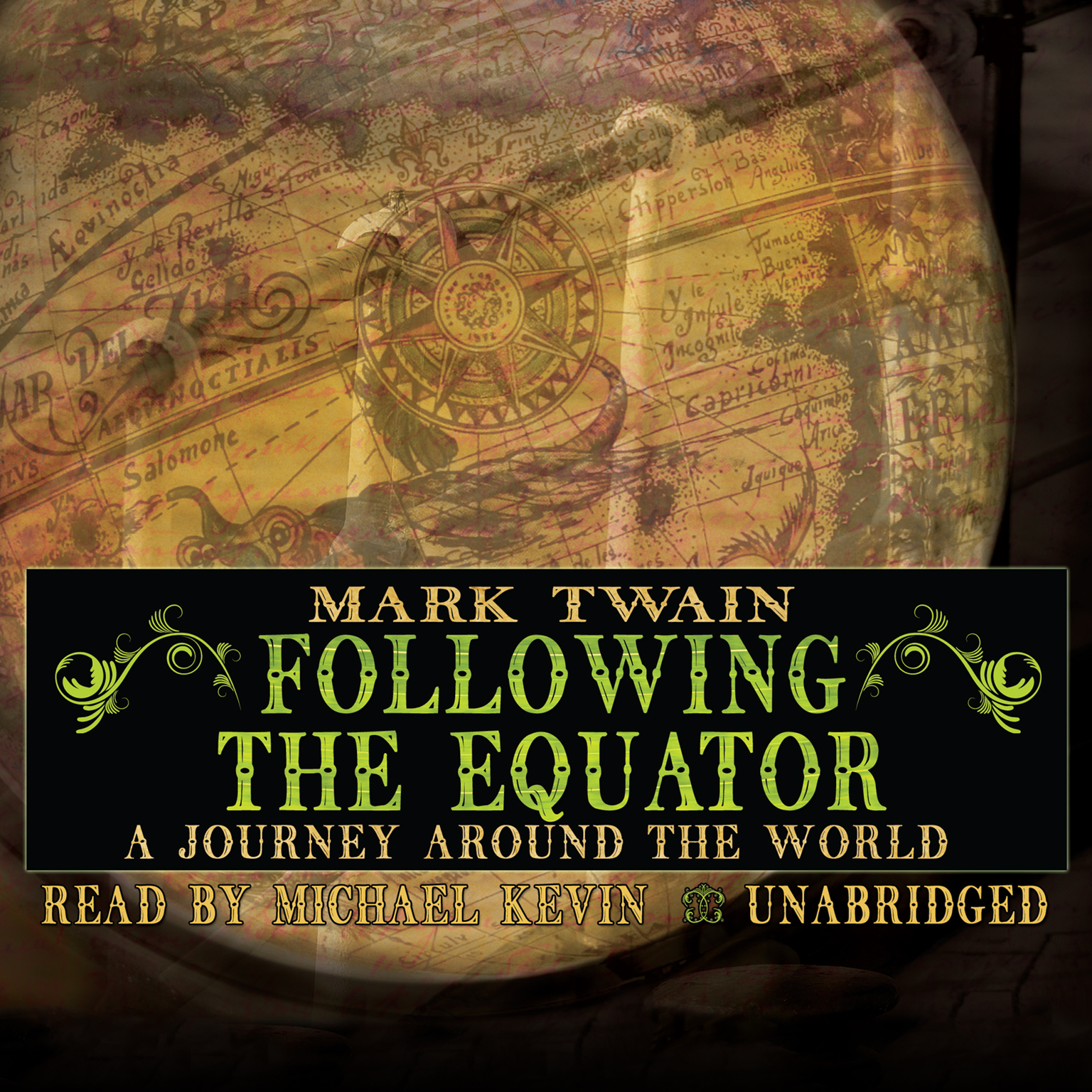 Printable Following the Equator: A Journey Around the World Audiobook Cover Art
