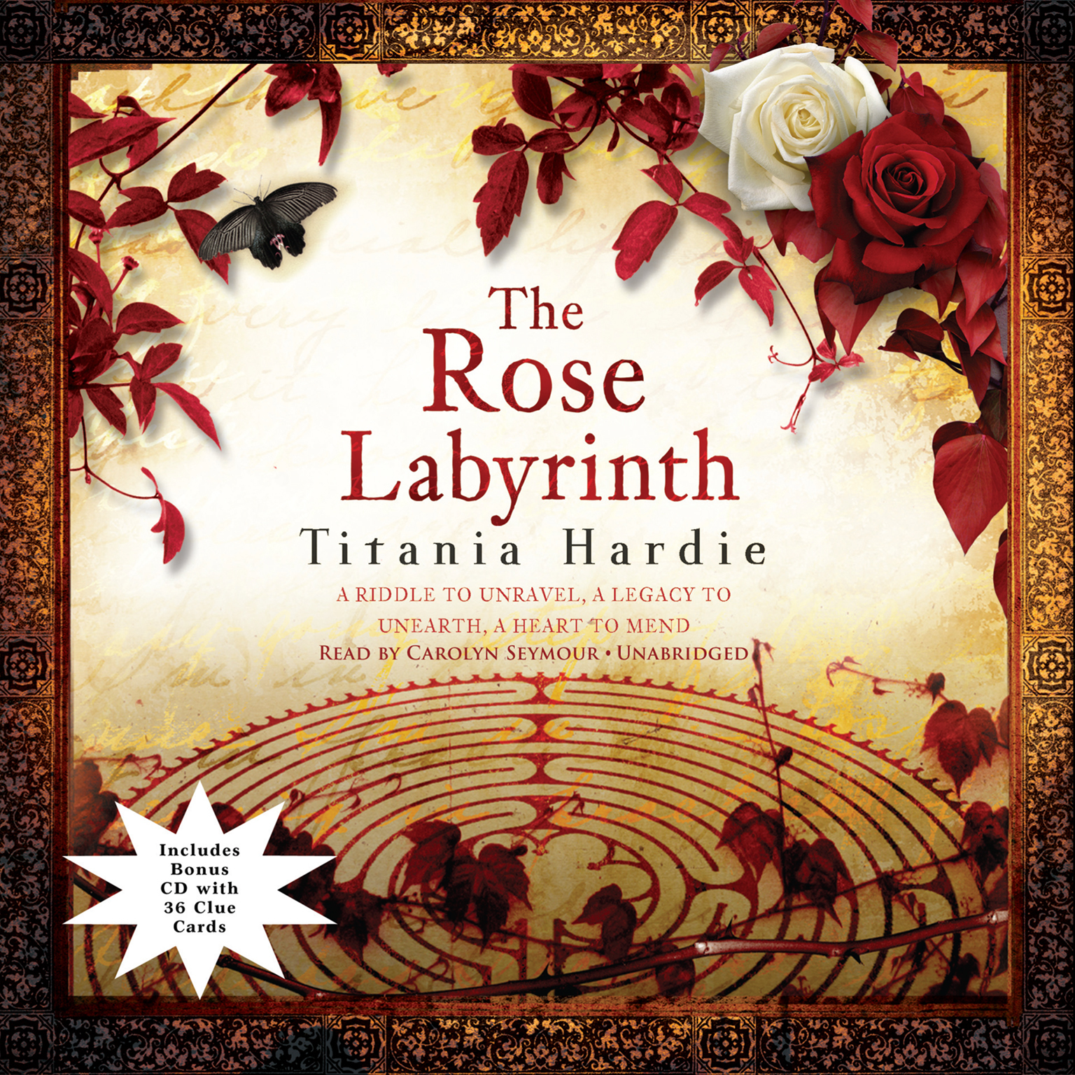 Printable The Rose Labyrinth Audiobook Cover Art