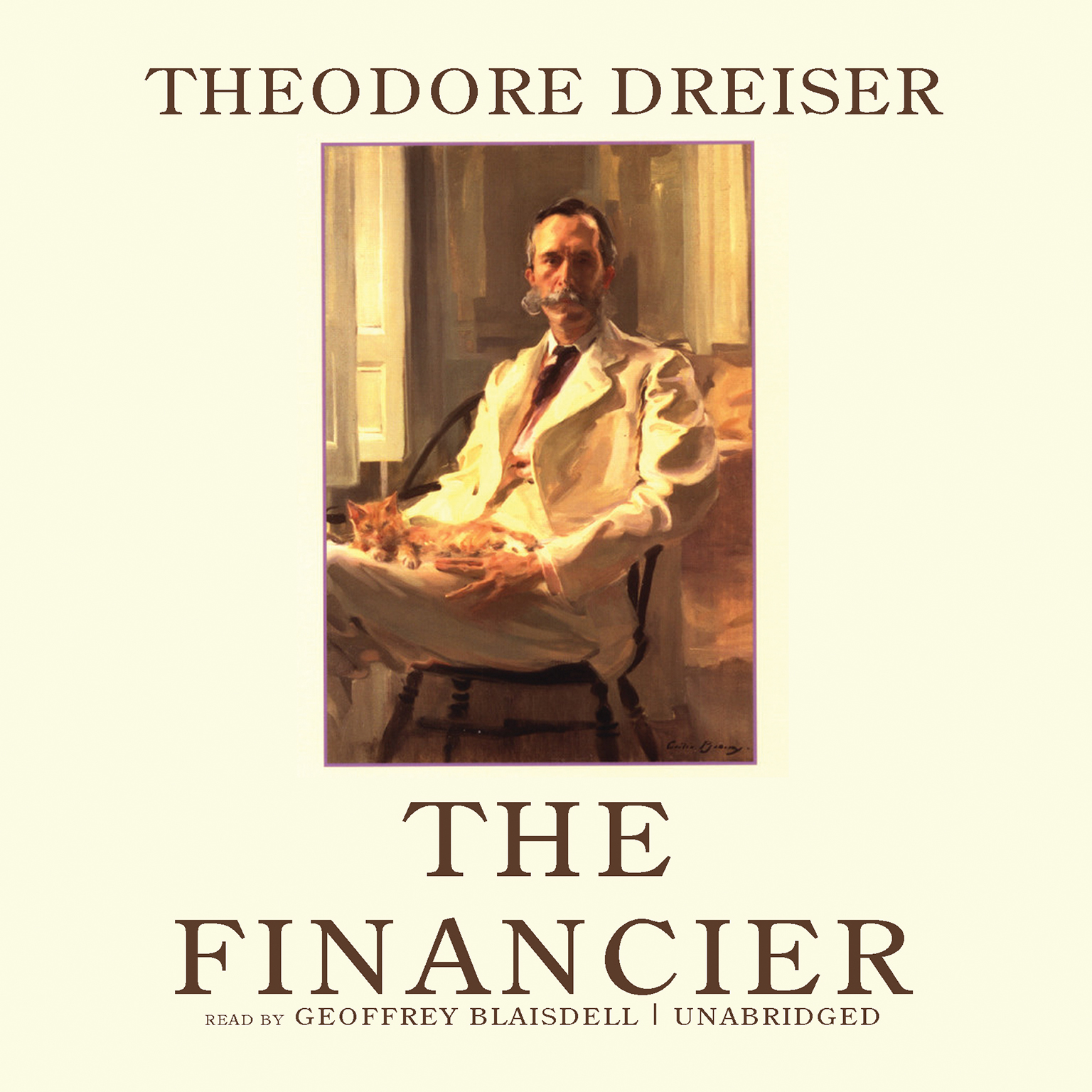Printable The Financier Audiobook Cover Art