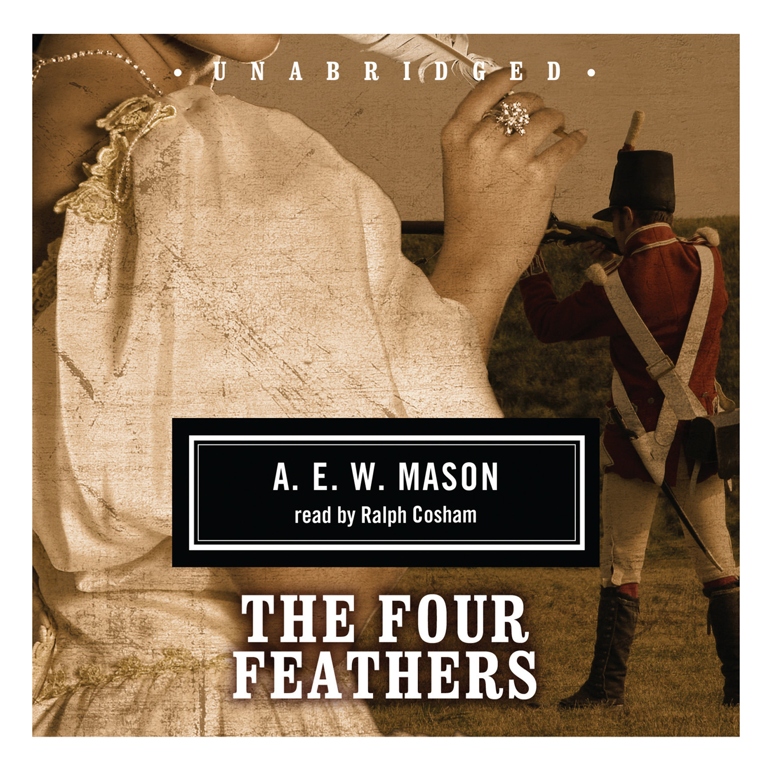 Printable The Four Feathers Audiobook Cover Art