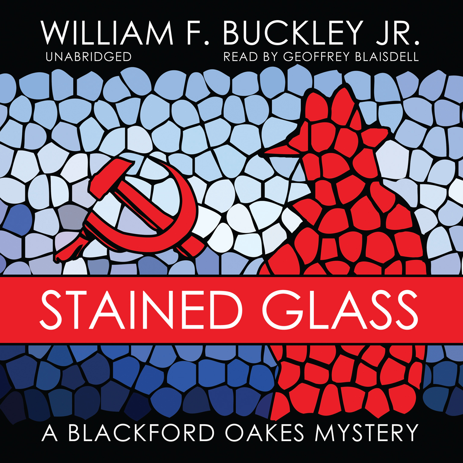 Printable Stained Glass: A Blackford Oakes Mystery Audiobook Cover Art