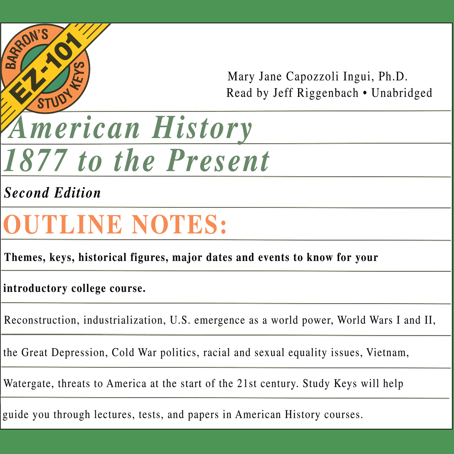 Printable American History, 1877 to the Present, Second Edition Audiobook Cover Art