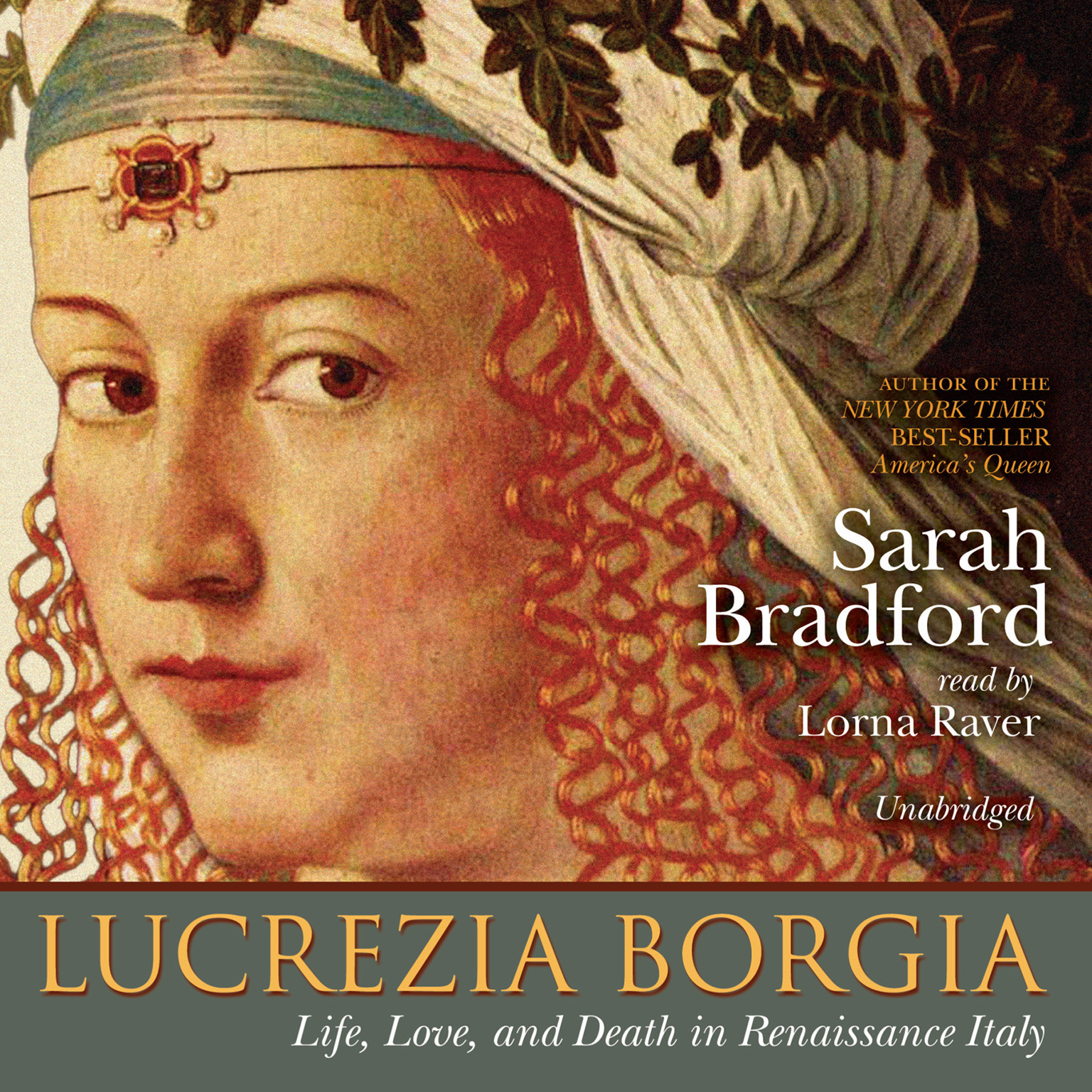 Printable Lucrezia Borgia: Life, Love, and Death in Renaissance Italy Audiobook Cover Art