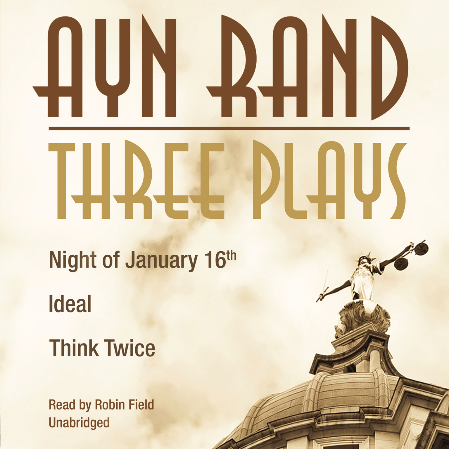Printable Three Plays: Night of January 16th, Ideal, Think Twice Audiobook Cover Art