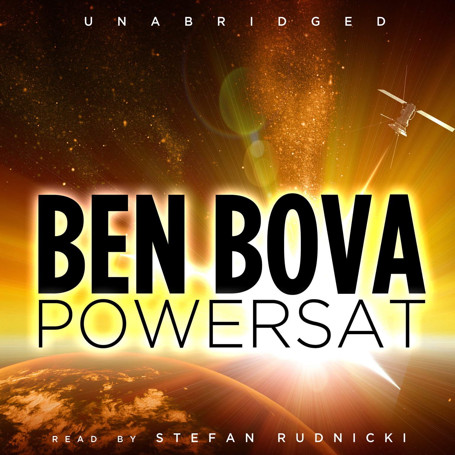 Printable Powersat Audiobook Cover Art