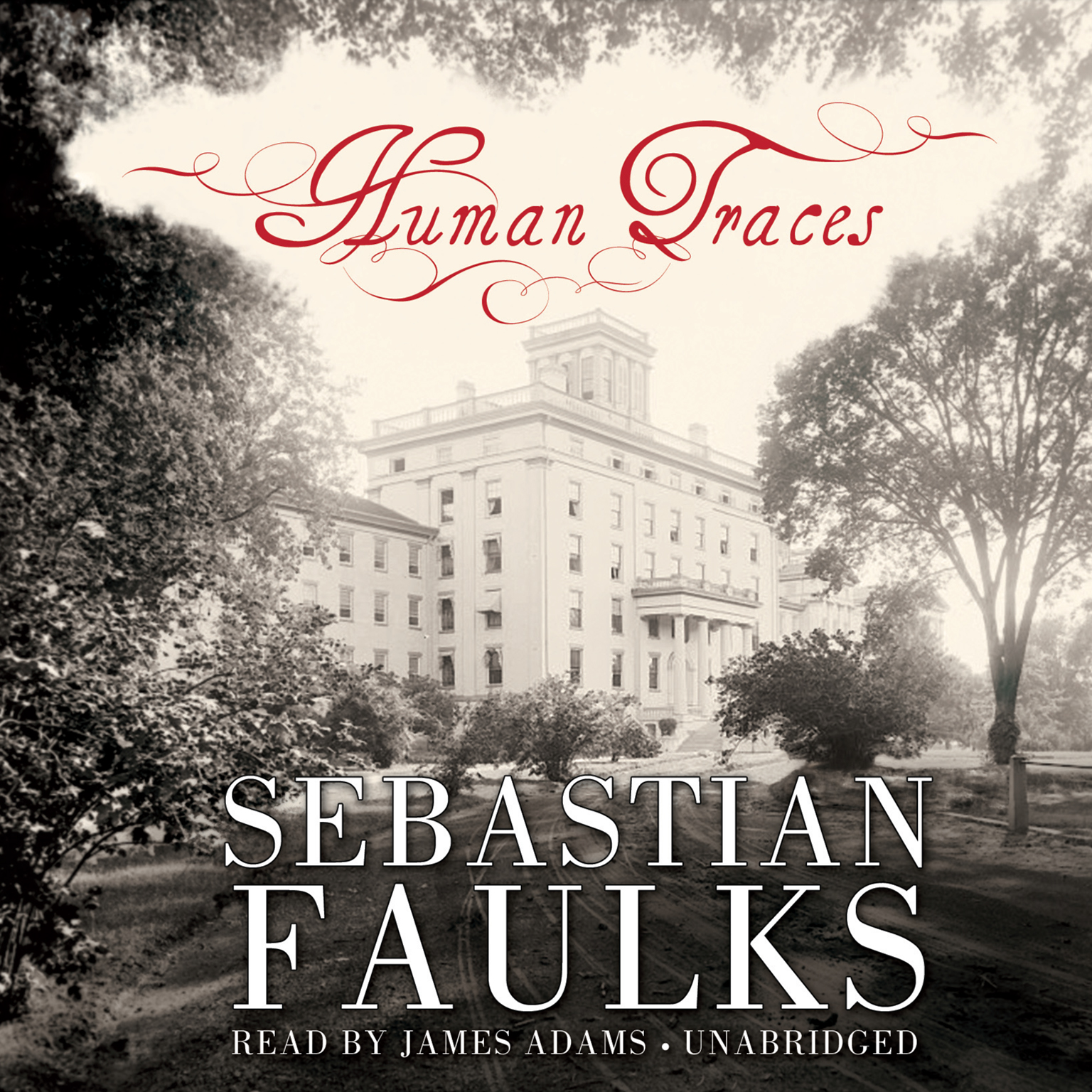 Printable Human Traces: A Novel Audiobook Cover Art