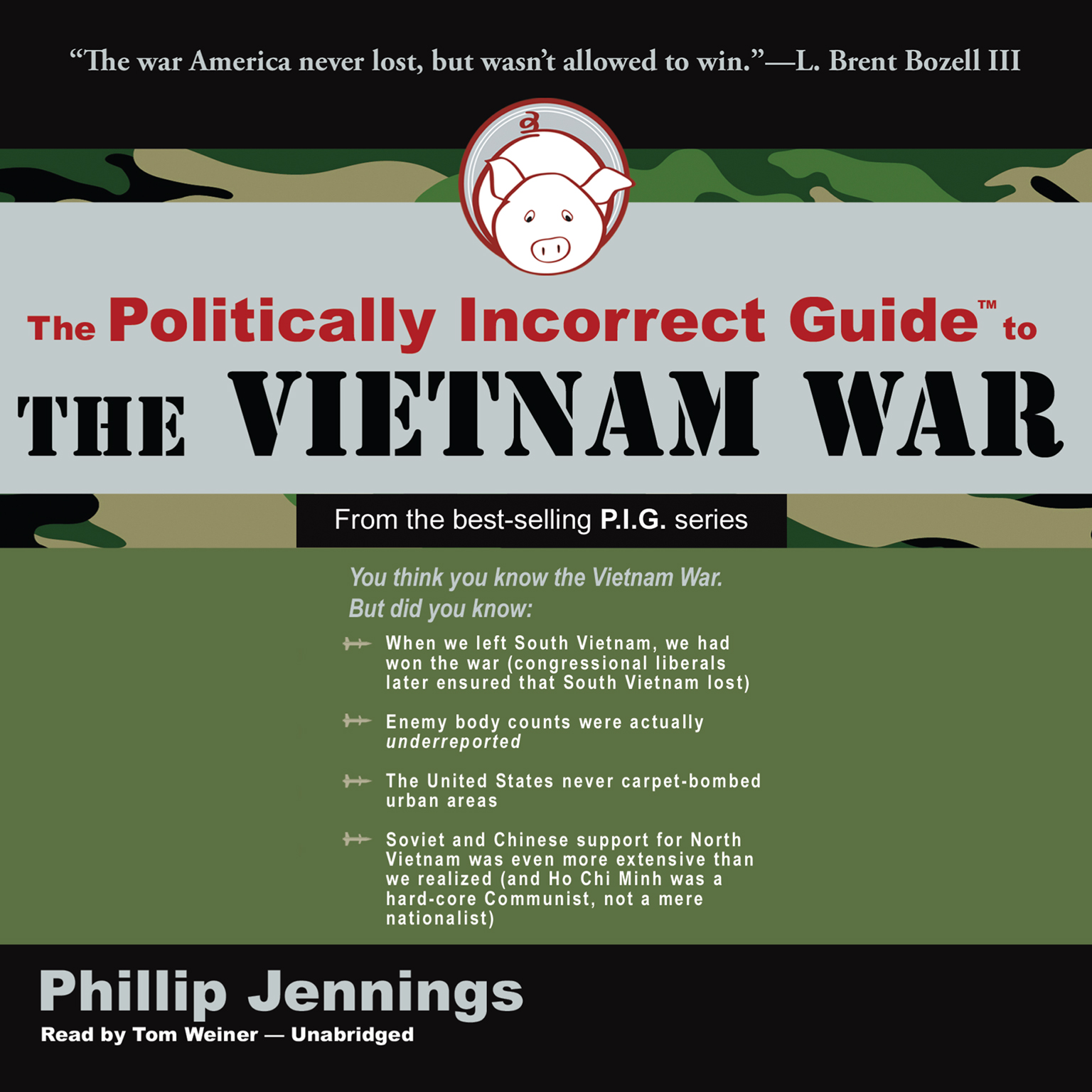 Printable The Politically Incorrect Guide to the Vietnam War Audiobook Cover Art