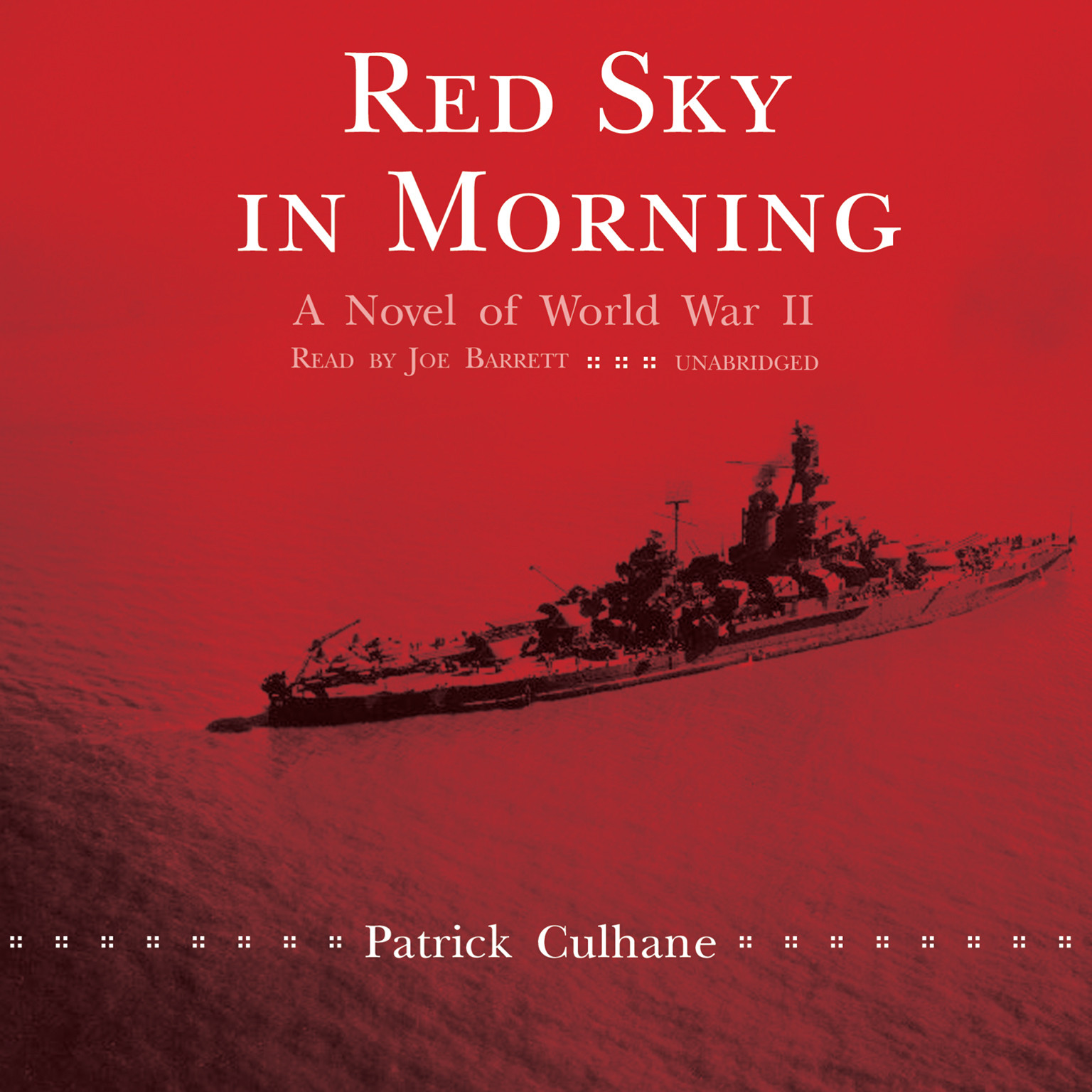 Printable Red Sky in Morning: A Novel of World War II Audiobook Cover Art