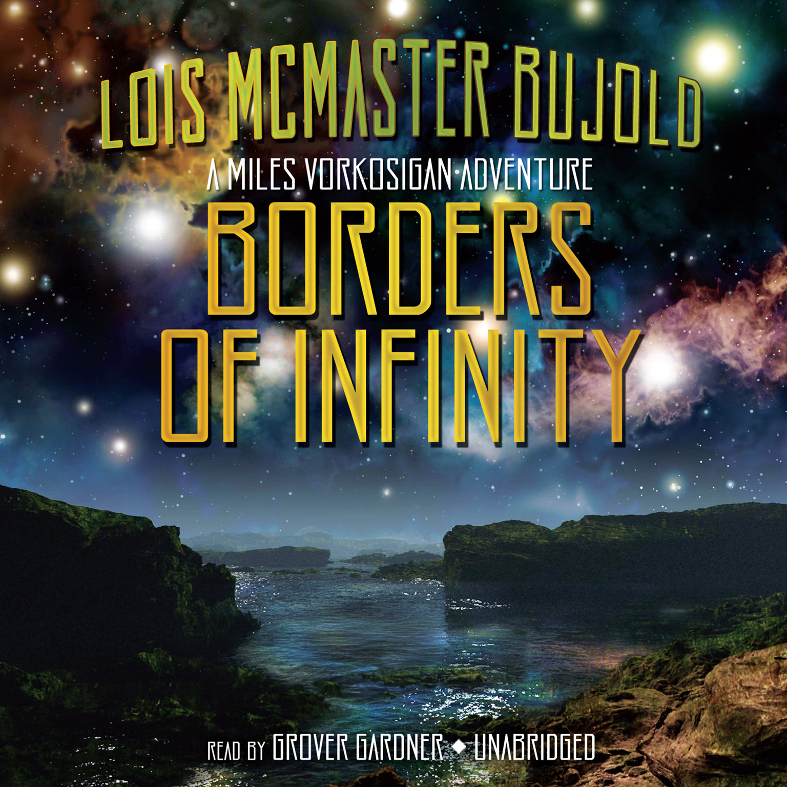 Printable Borders of Infinity: A Miles Vorkosigan Adventure Audiobook Cover Art
