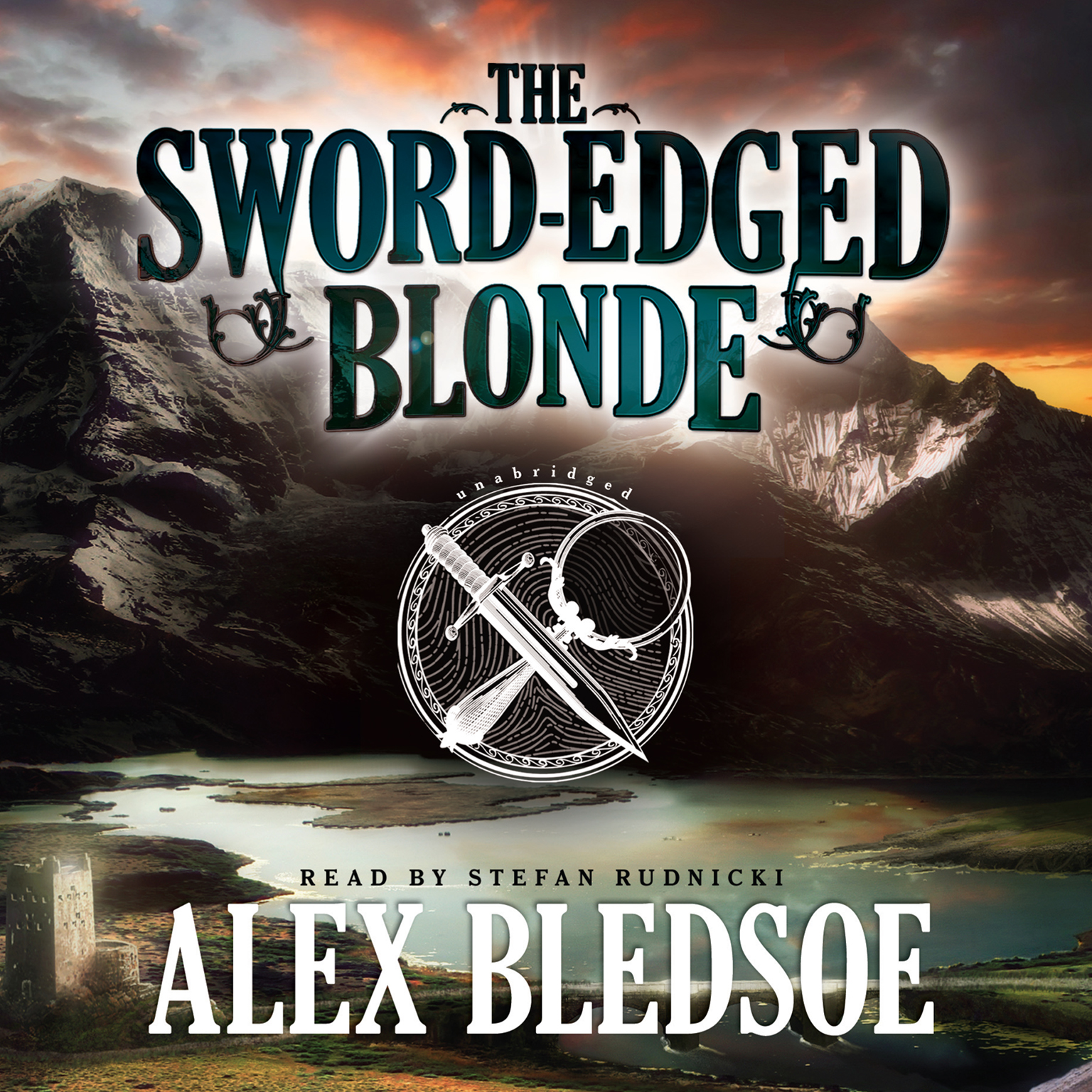 Printable The Sword-Edged Blonde Audiobook Cover Art