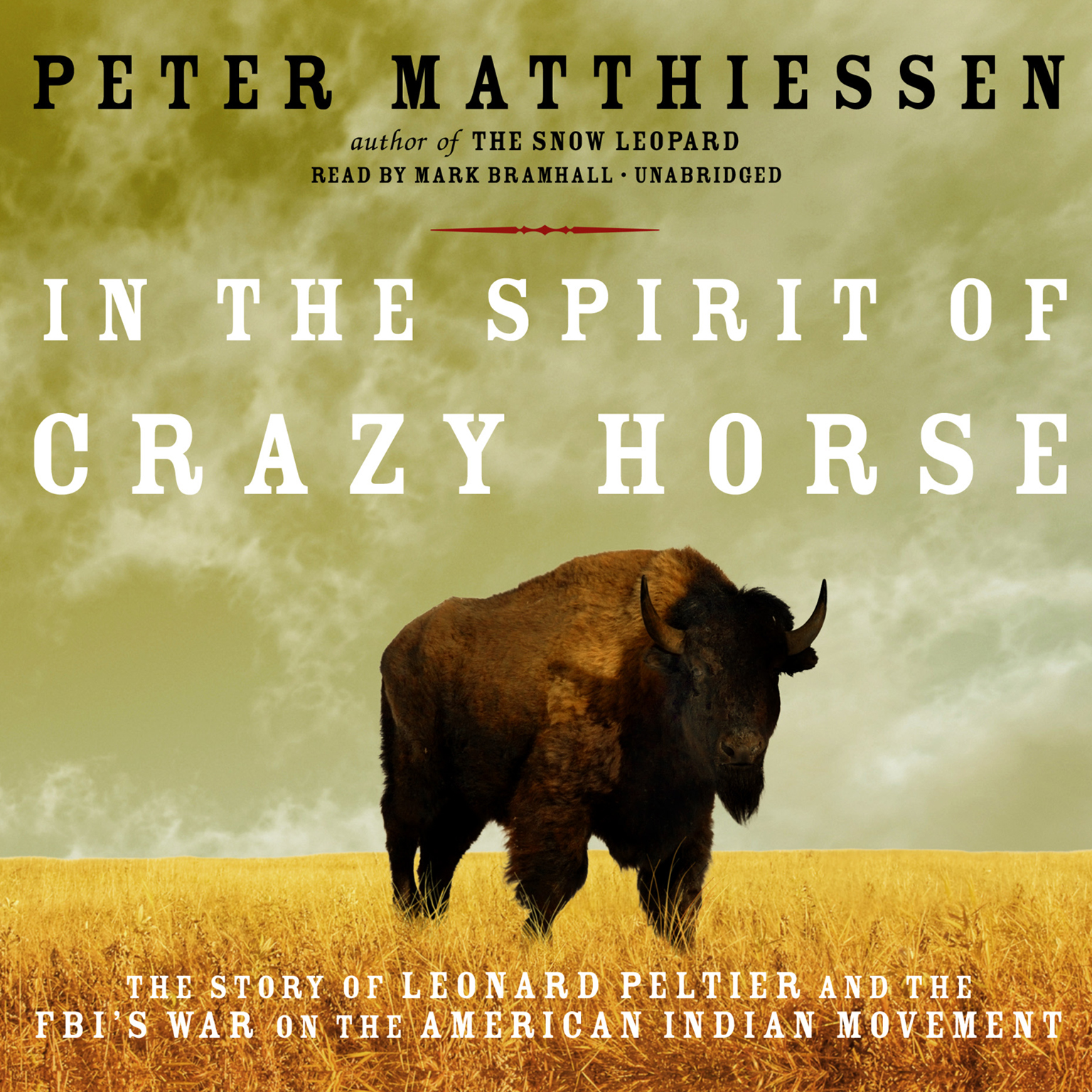Printable In the Spirit of Crazy Horse: The Story of Leonard Peltier and the FBI's War on the American Indian Movement Audiobook Cover Art