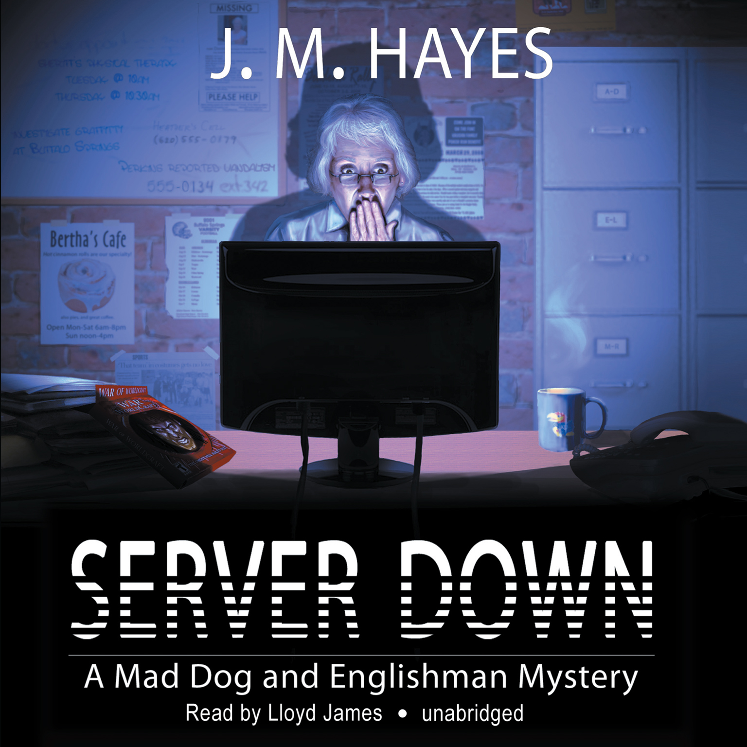 Printable Server Down Audiobook Cover Art