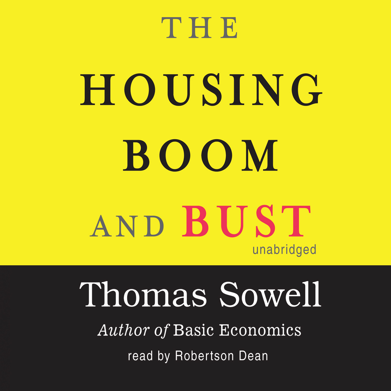 Printable The Housing Boom and Bust Audiobook Cover Art