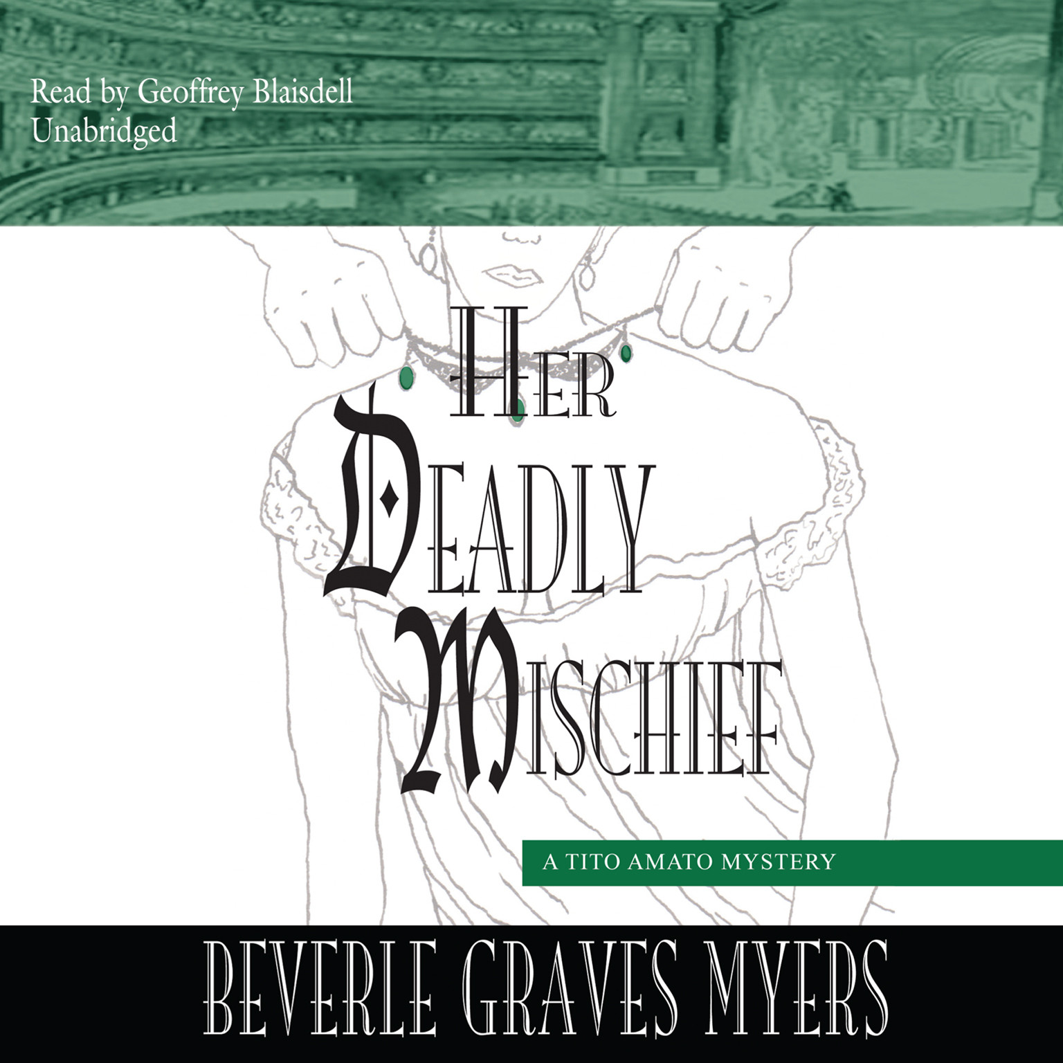 Printable Her Deadly Mischief: A Tito Amato Mystery Audiobook Cover Art