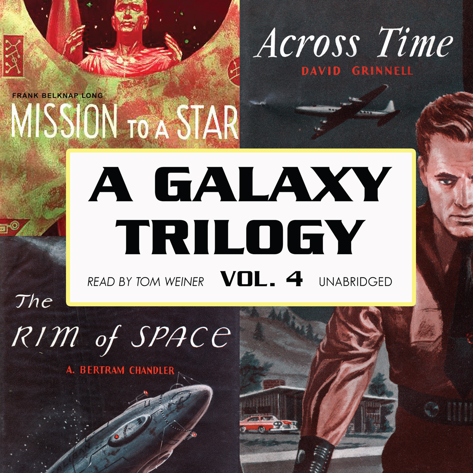 Printable A Galaxy Trilogy, Vol. 4: Across Time, Mission to a Star, and The Rim of Space Audiobook Cover Art