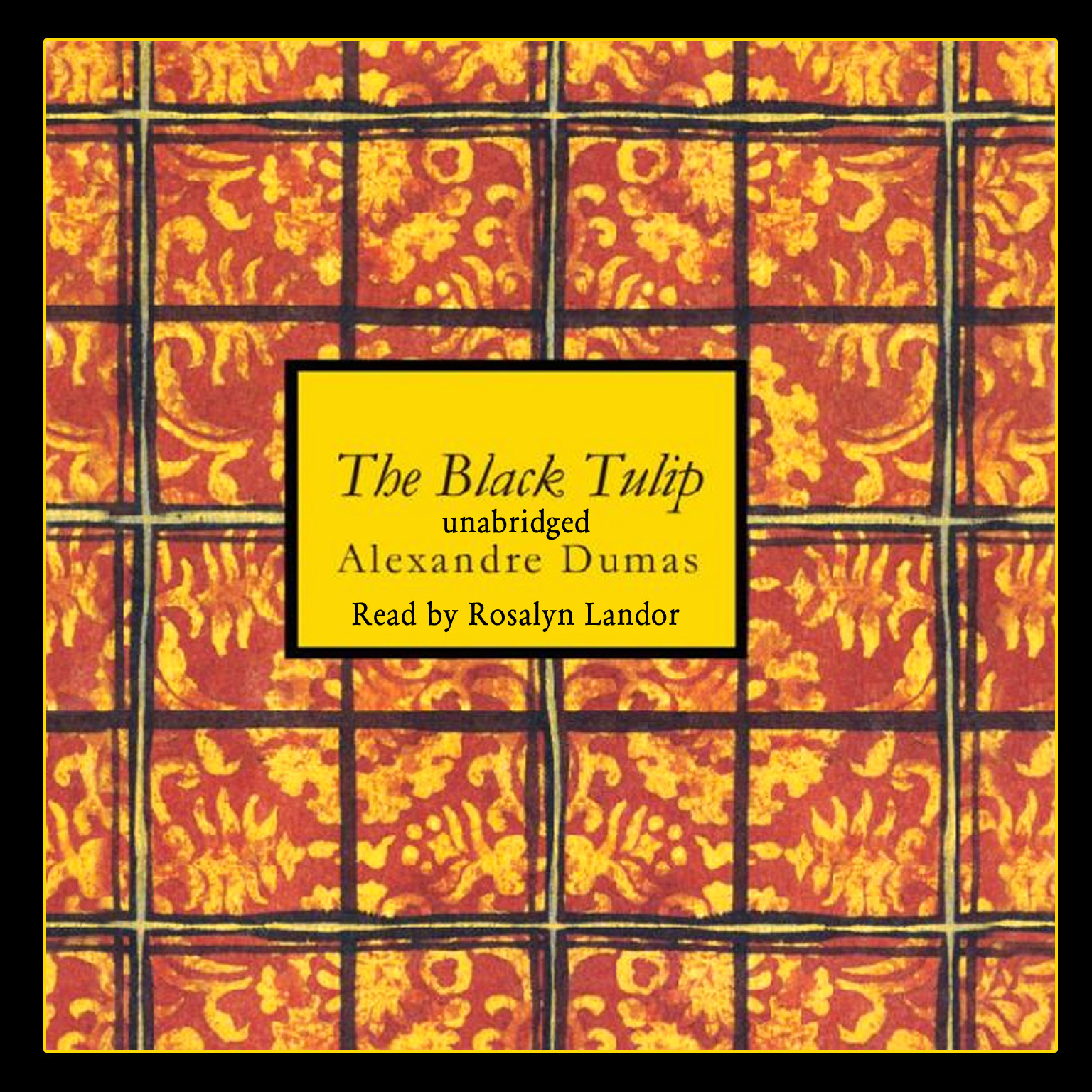 Printable The Black Tulip Audiobook Cover Art