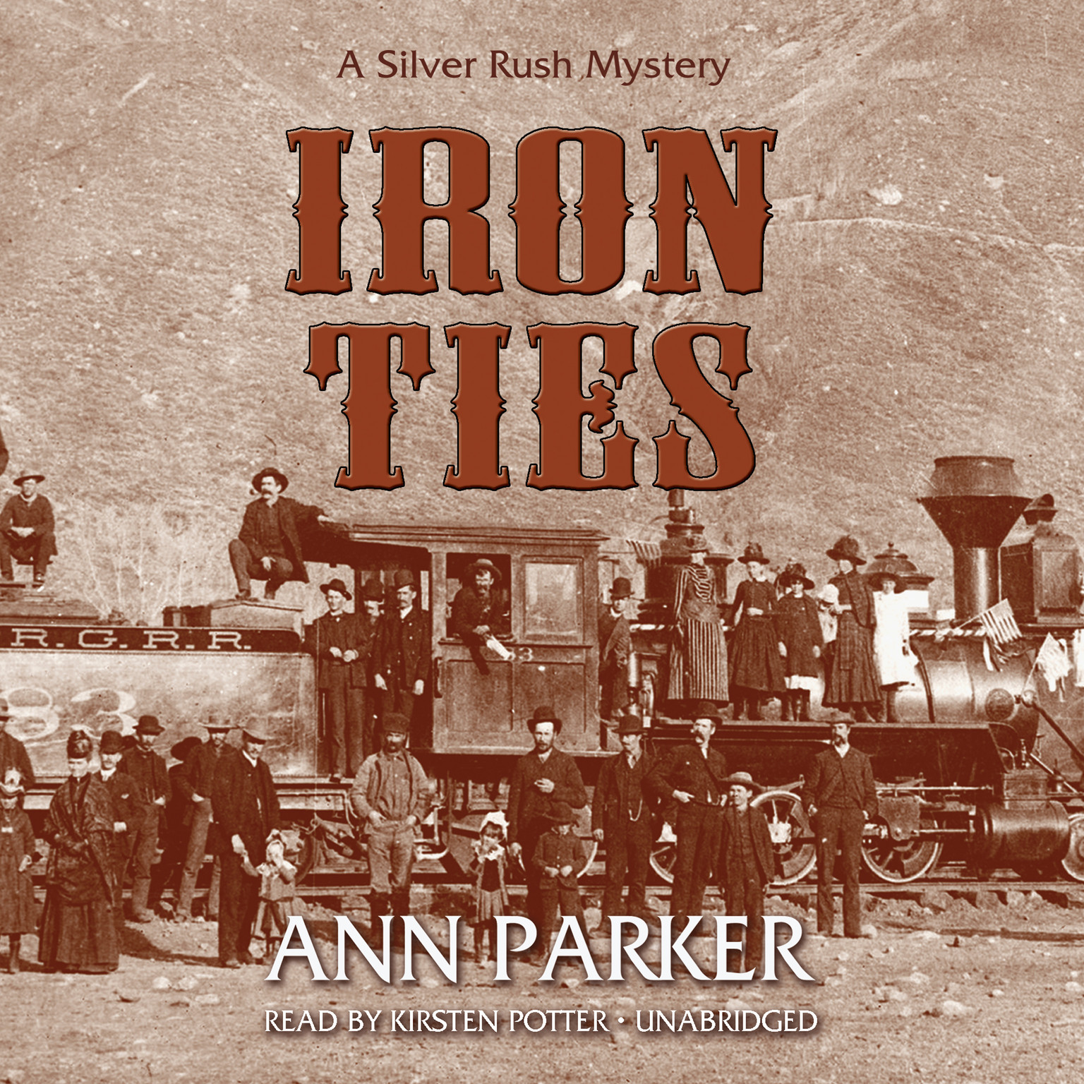 Printable Iron Ties Audiobook Cover Art