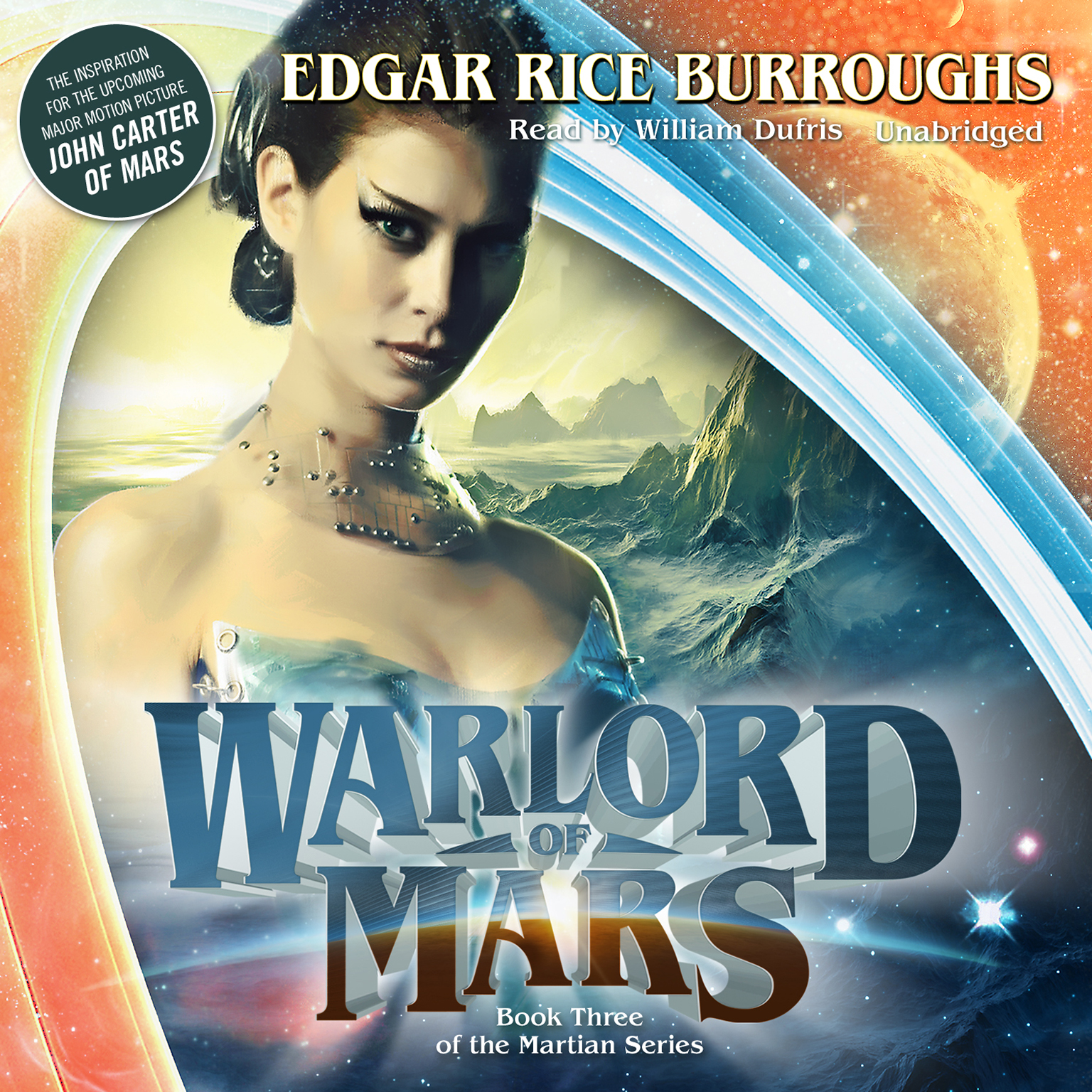 Printable Warlord of Mars Audiobook Cover Art
