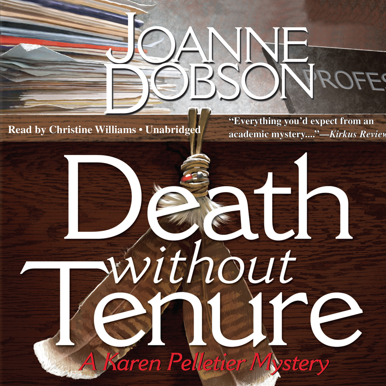 Printable Death without Tenure Audiobook Cover Art