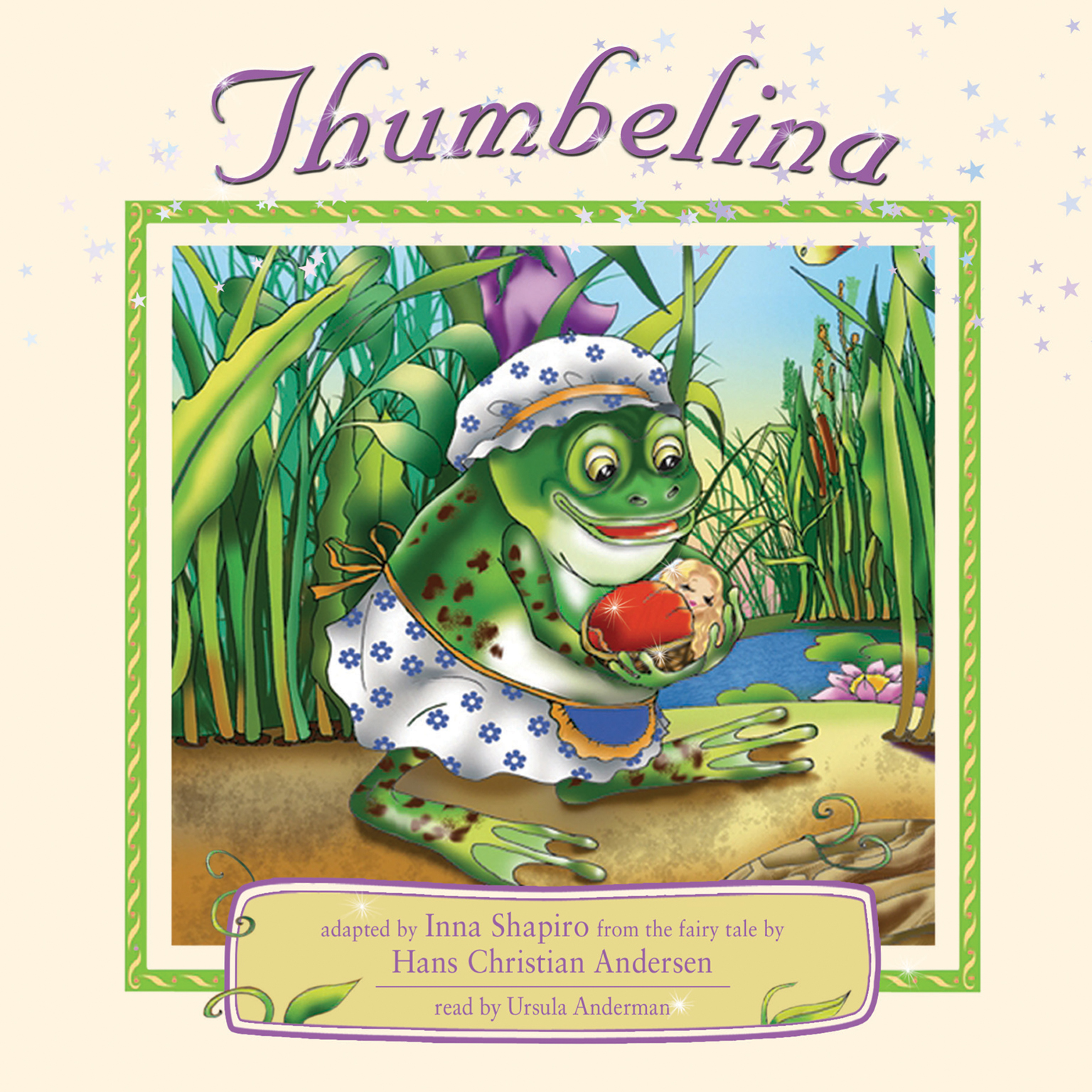 Printable Thumbelina Audiobook Cover Art